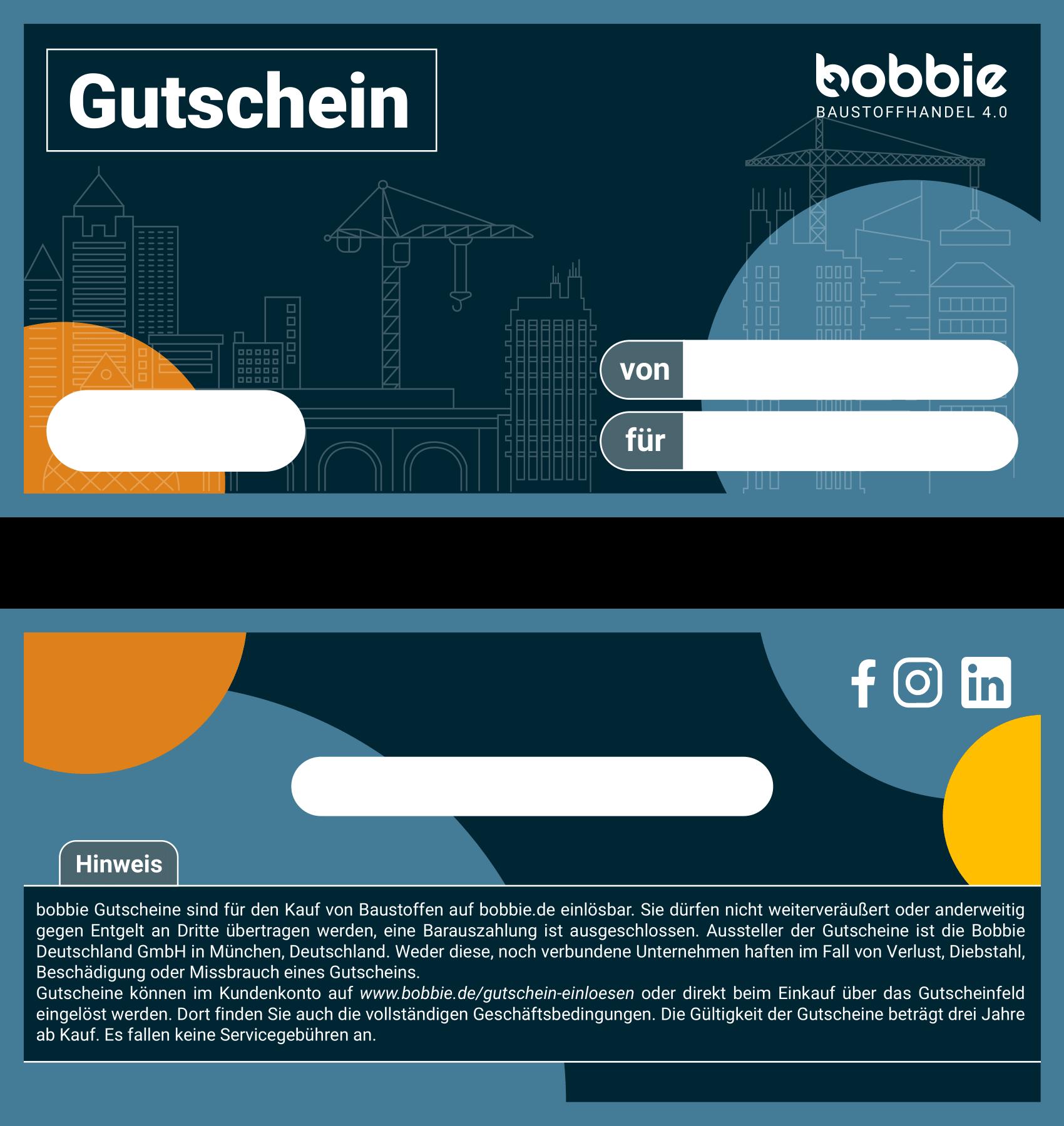 GESCHENKGUTSCHEIN (PER POST / AB 100€)