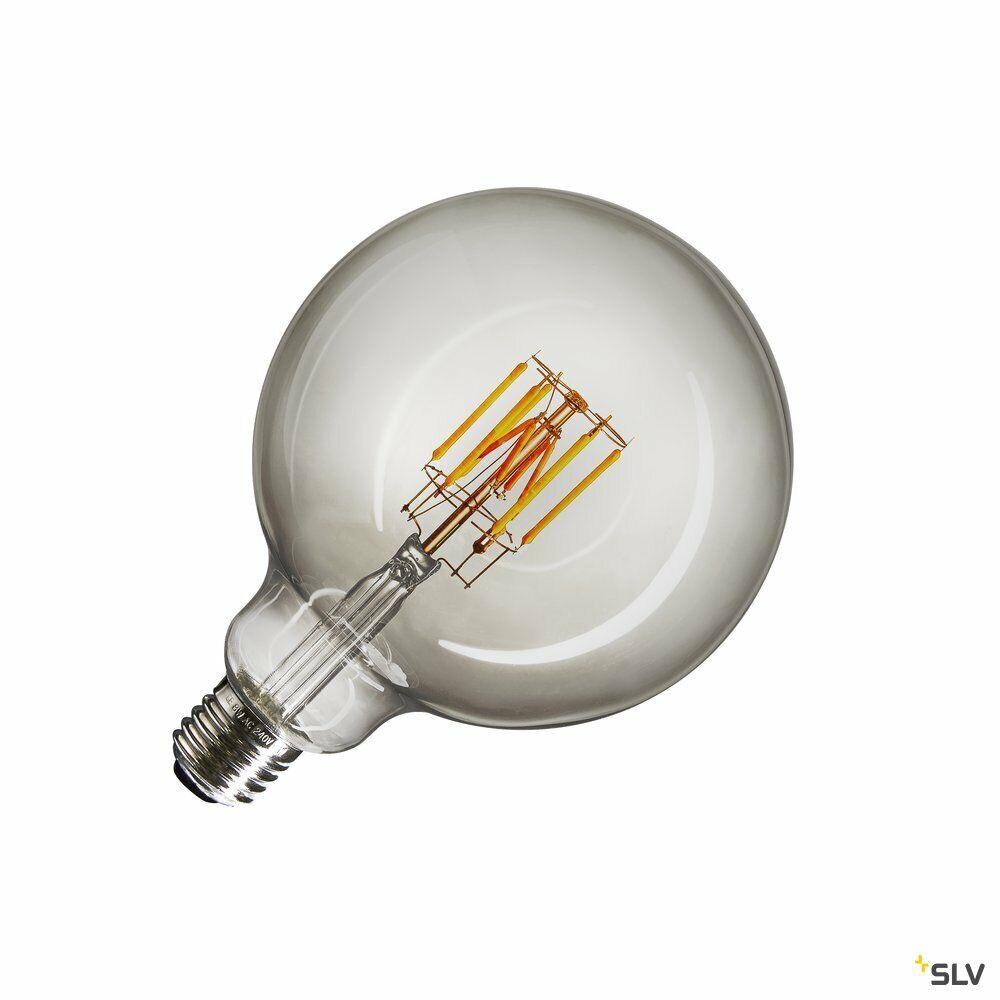 LED Leuchtmittel, G125, E27, 2000-2900K, 280°, dimmbar, Rauchglas