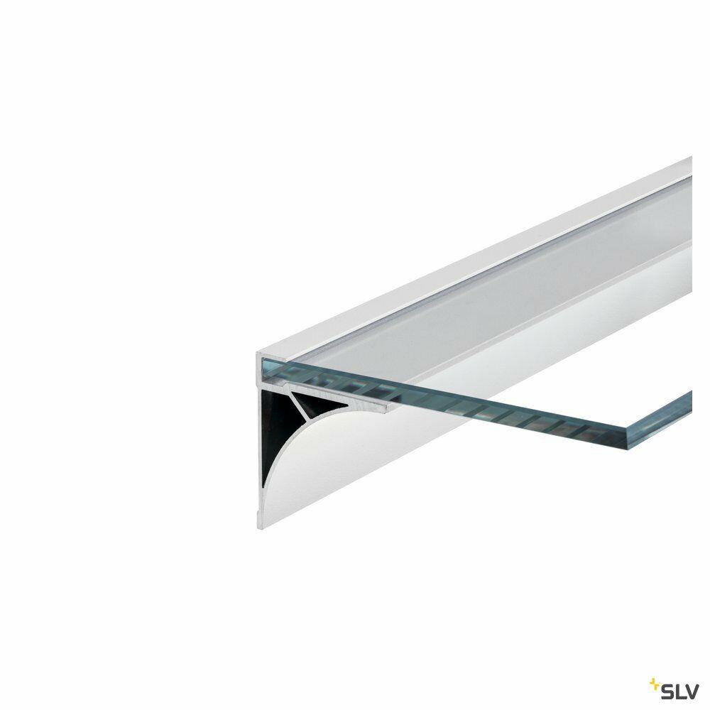 GLENOS, Regal-Profil, weiß matt, 2 m