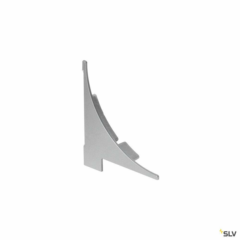 ENDKAPPEN, für GLENOS Regal-Profil, 2 Stück, silber