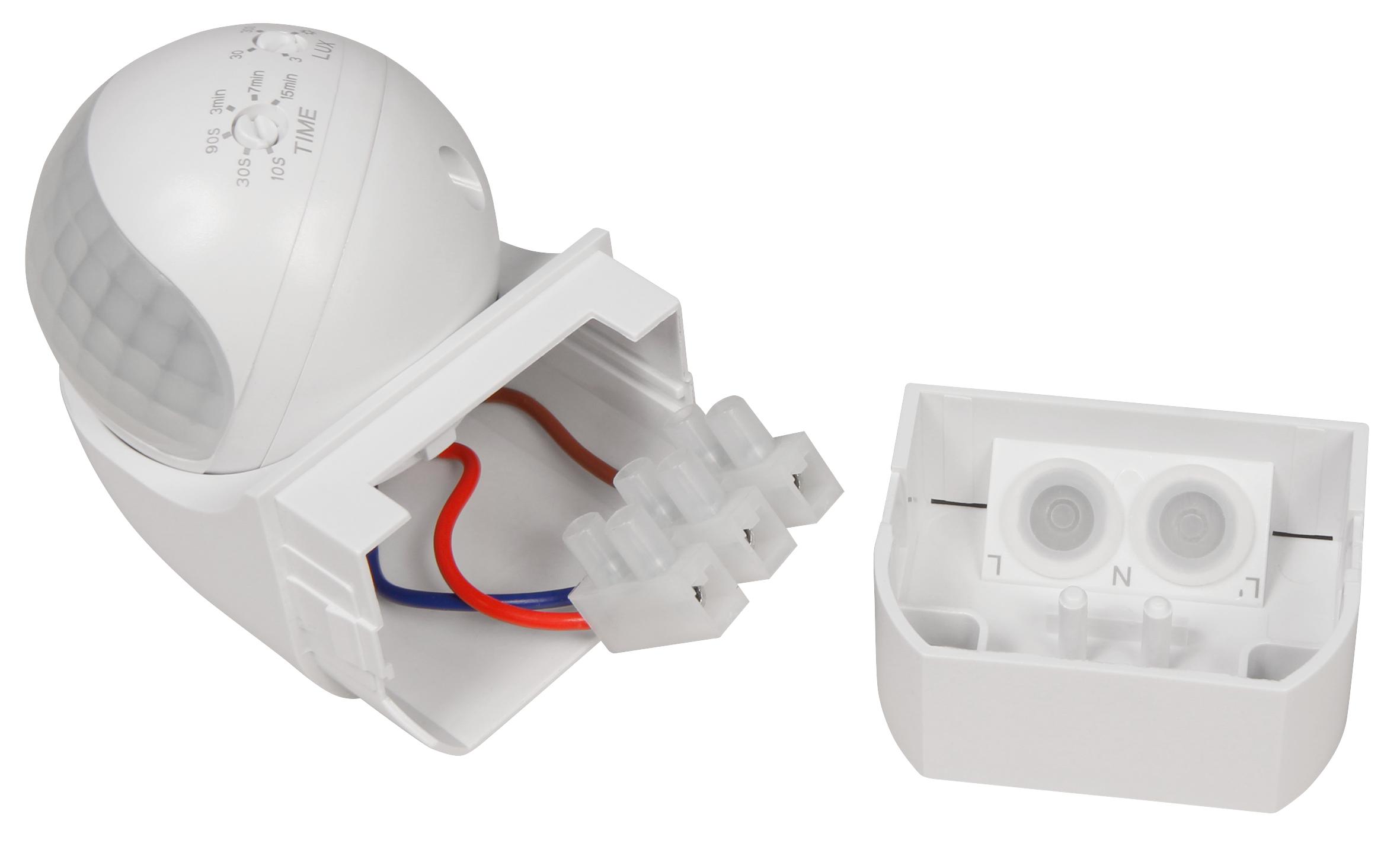 IR Bewegungsmelder McShine ''LX-200'' 180°, 1-800W, LED geeignet, IP44