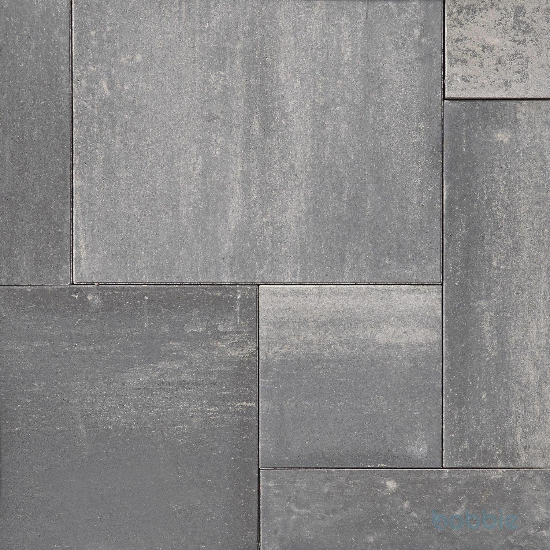 Platten, MIAMI TERRASSENPLATTEN, 599x599x55, Nordisch-Grau-Dunkel