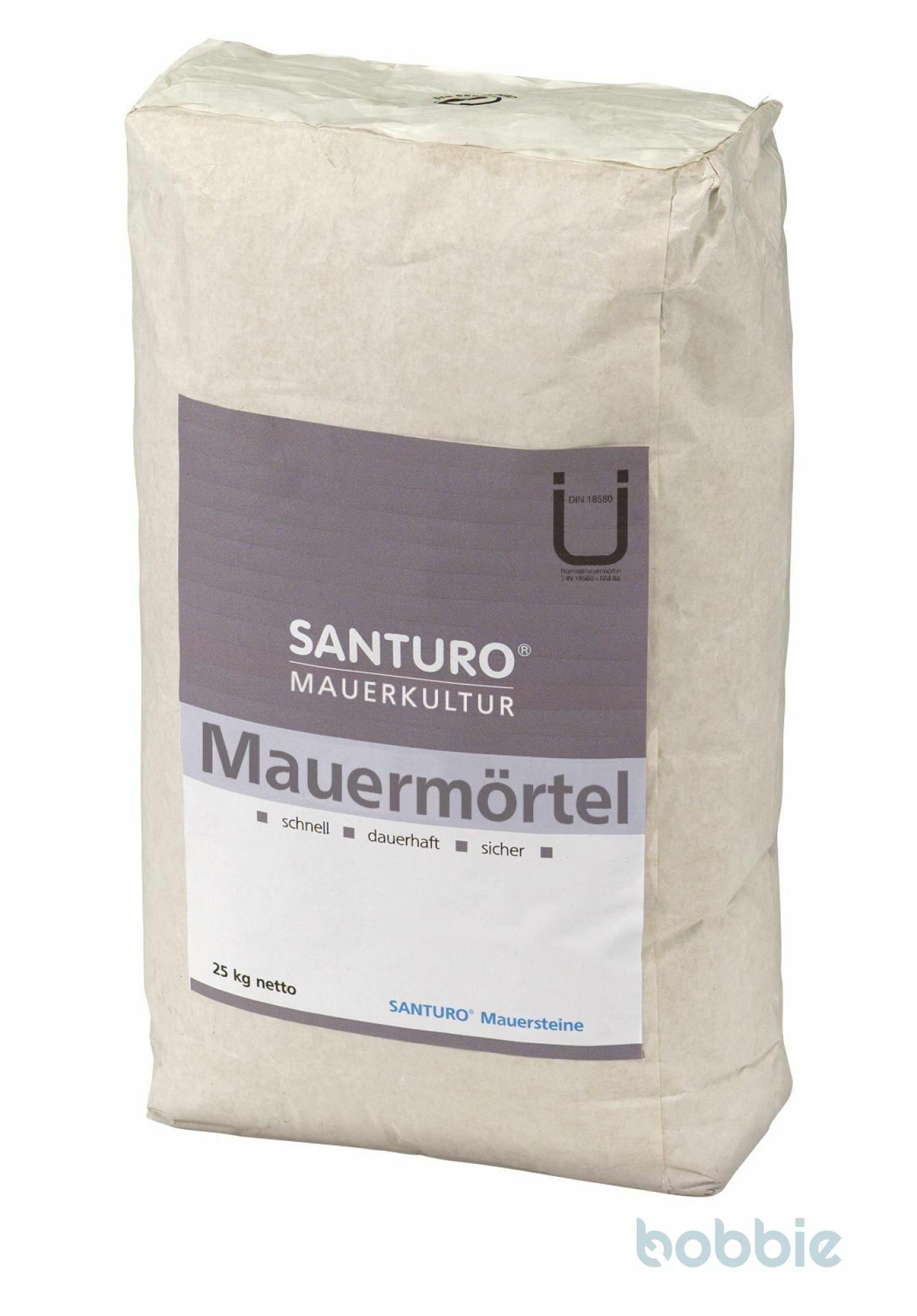 Fugenmaterial, SANTURO® MAUERMÖRTEL, Dunkelgrau