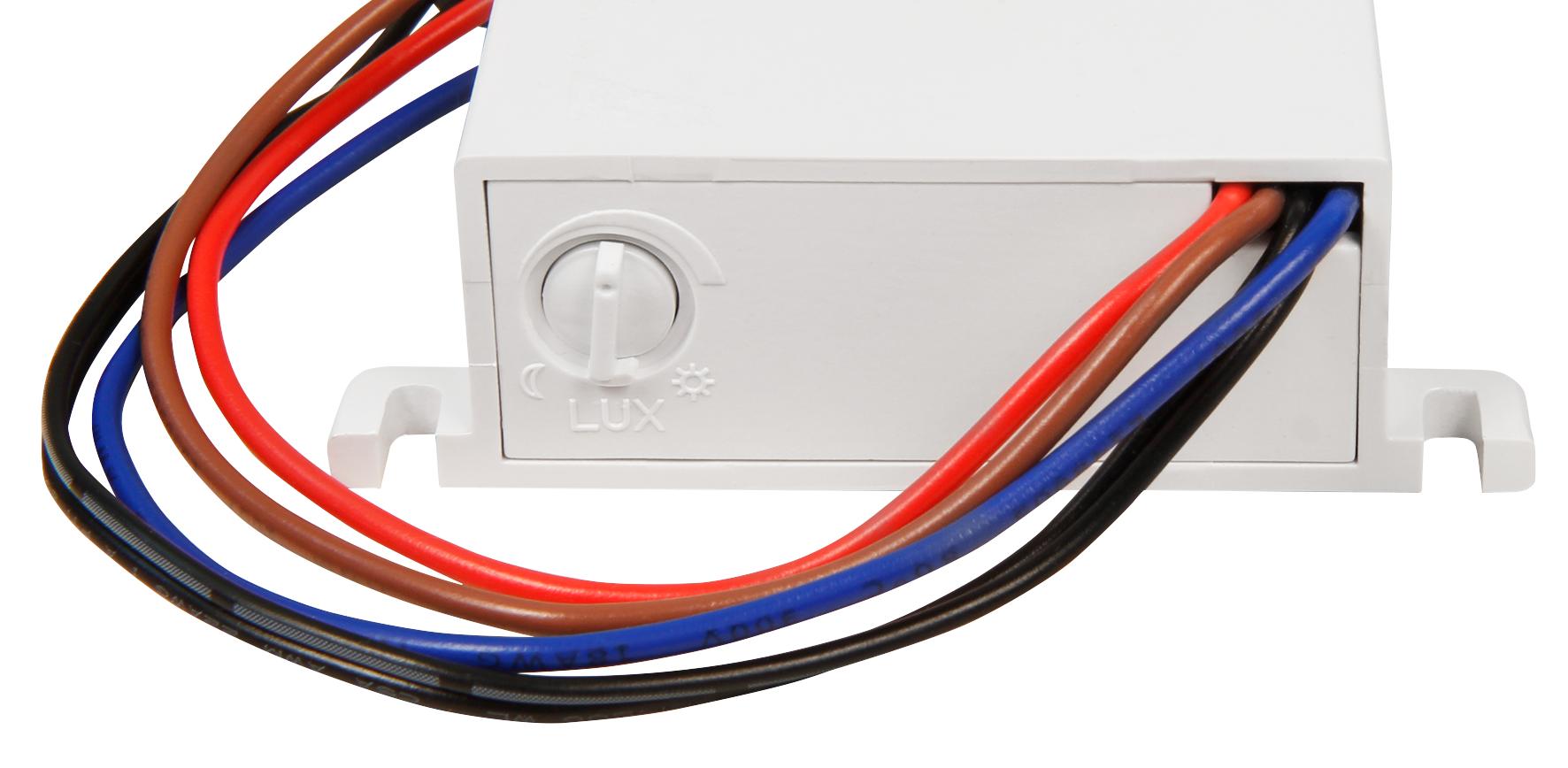 Dämmerungs-Schalter McShine ''DS-12'' 230V/10A, IP44, Decken-Einbau