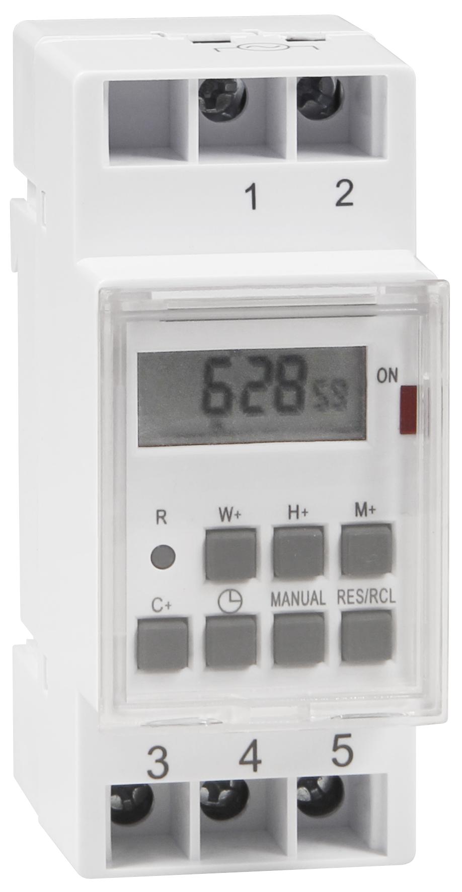 Digitale Zeitschaltuhr McPower ''STE-3'' 7 Tage, 230V für Schalttafel-Einbau,3600W
