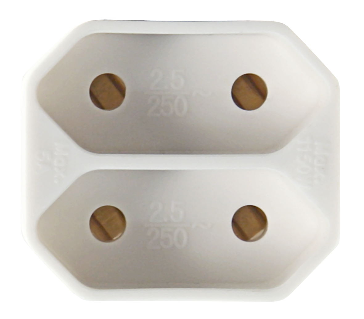Steckdosenadapter McPower, 2x Euro, weiß