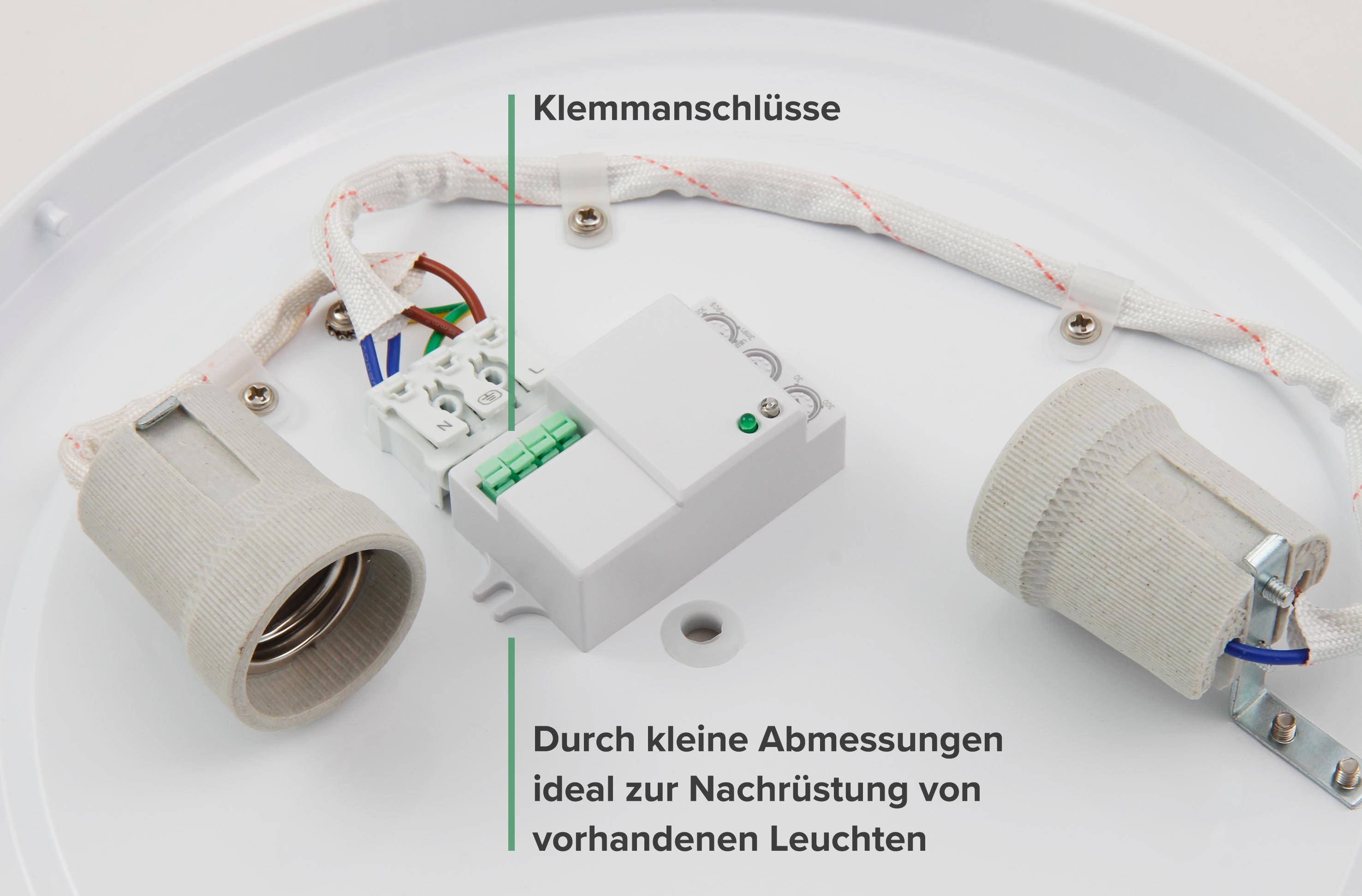 HF / Mikrowellen-Bewegungsmelder McShine ''LX-701C'', 360°, 230V / 1.200W, weiß, LED geeignet