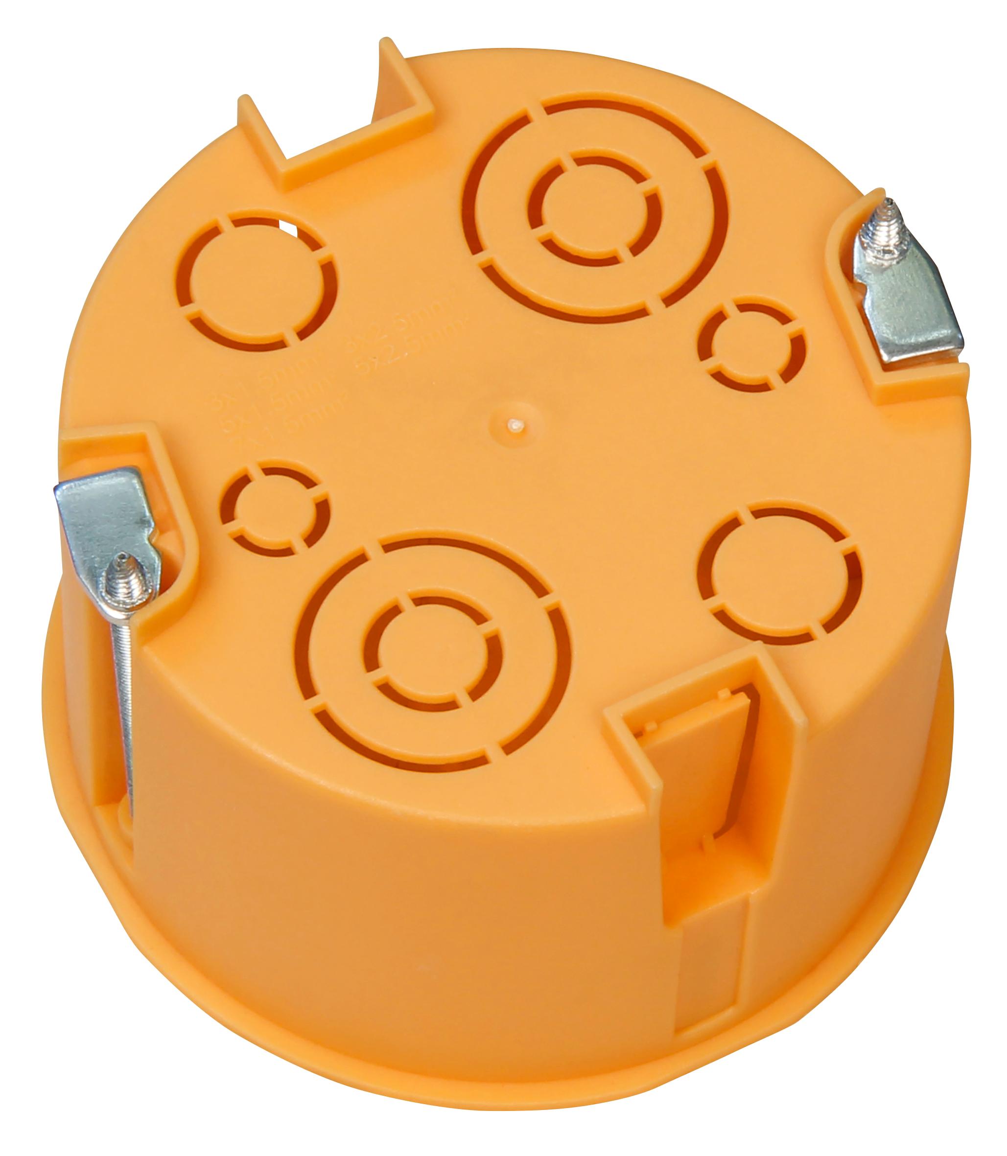 Hohlwanddose McPower, Ø68x45mm, inkl. Geräteschrauben, orange