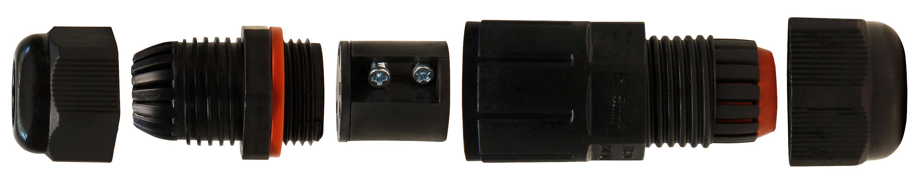 Kabelverbinder McPower, LxØ 78x26mm, IP68 - wasserdicht, 230V, 3-polig