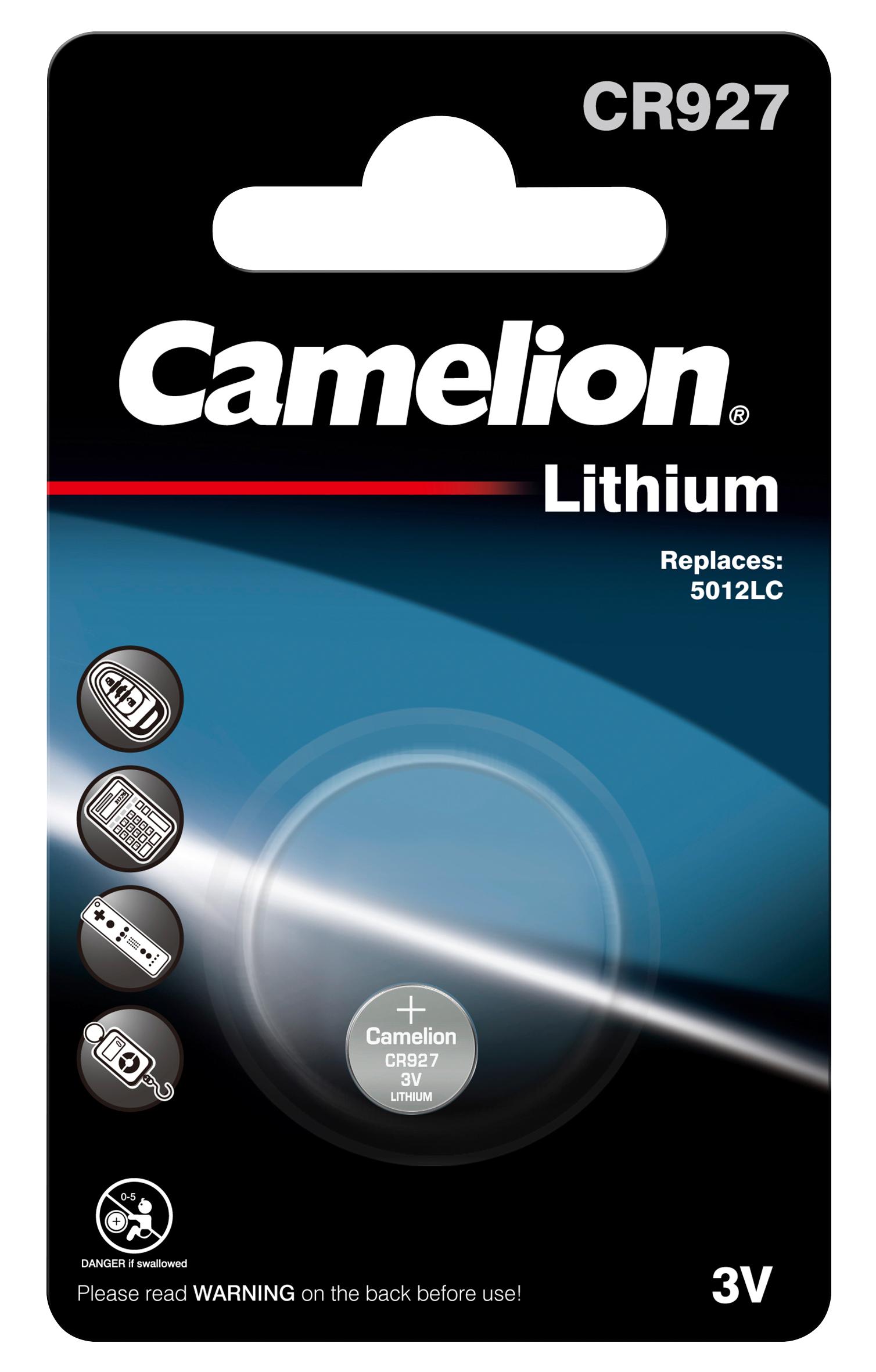 Knopfzelle CAMELION, CR927 3,0V, Lithium, 1er-Blister