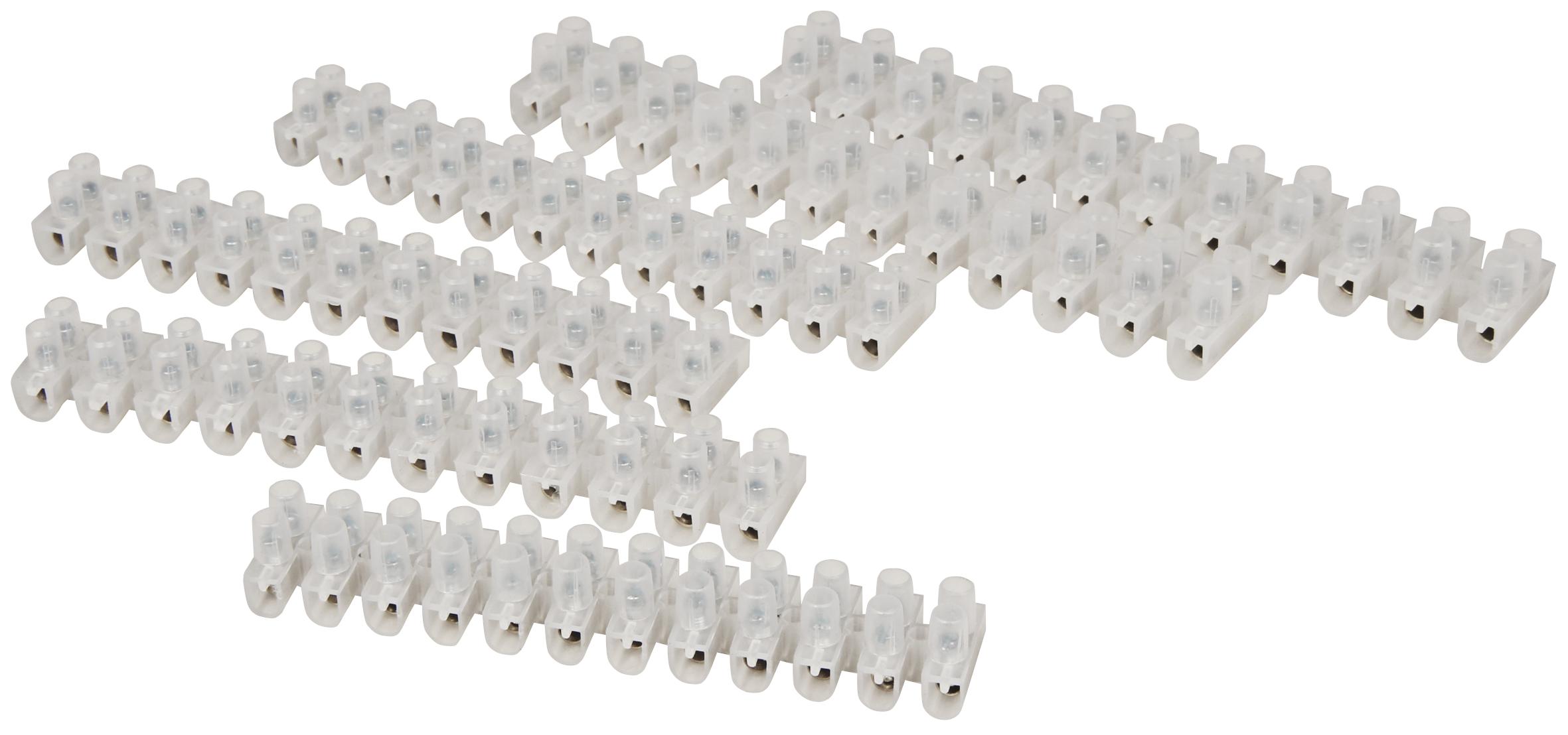 Lüsterklemmen-Sortiment McPower, 6-teilig: 1x4A, 3x6A, 2x10A, jeweils 12 Klemmen