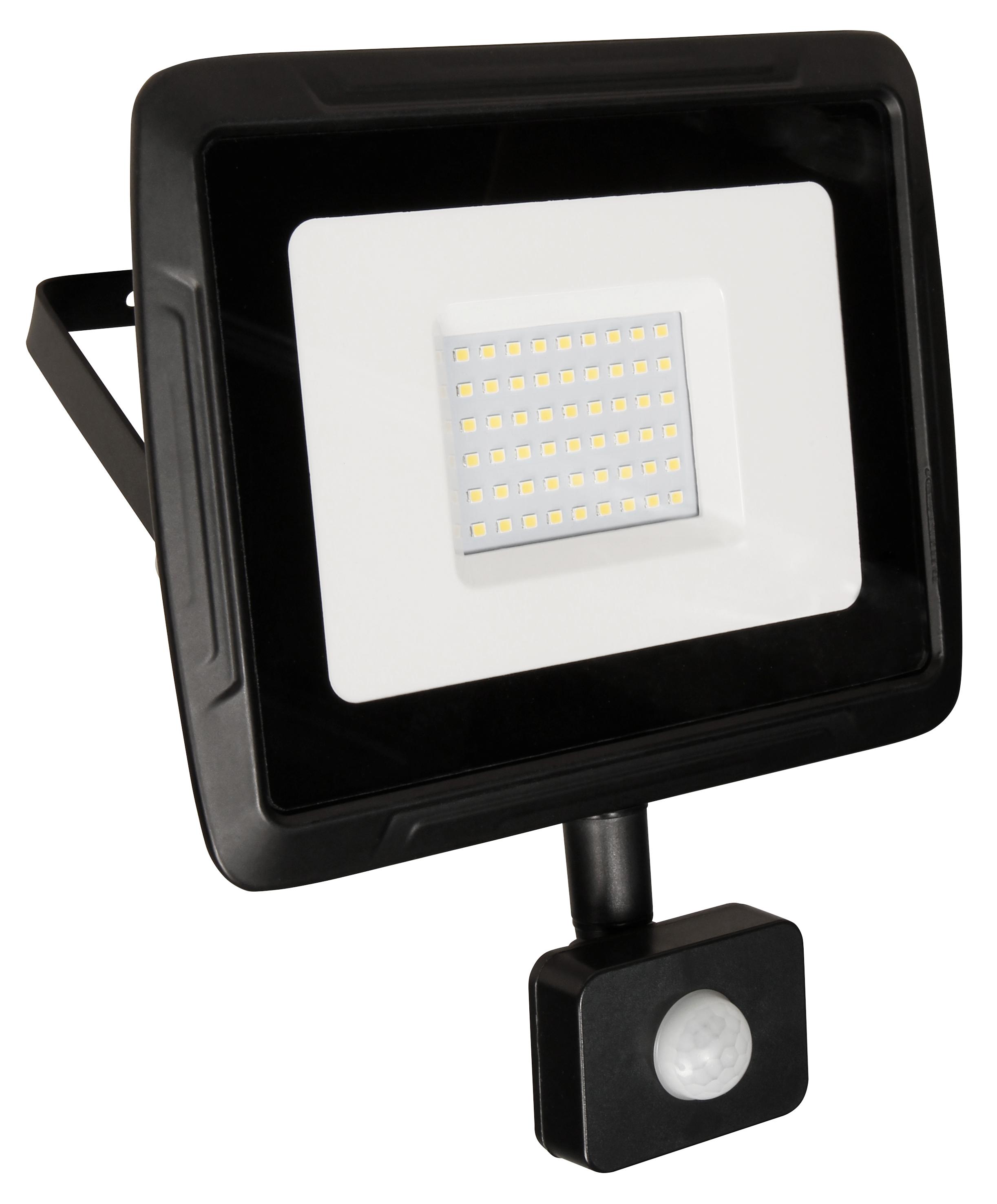 LED-Außenstrahler McShine ''Super-Slim'' 50W, 3500lm, 4000K, IP44, Bewegungsmelder
