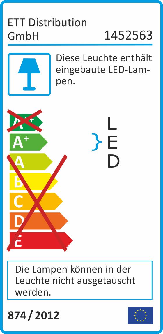 LED-Feuchtraum-Deckenleuchte McShine ''LFD-23'' 18W, 1500lm, IP65, warmweiß