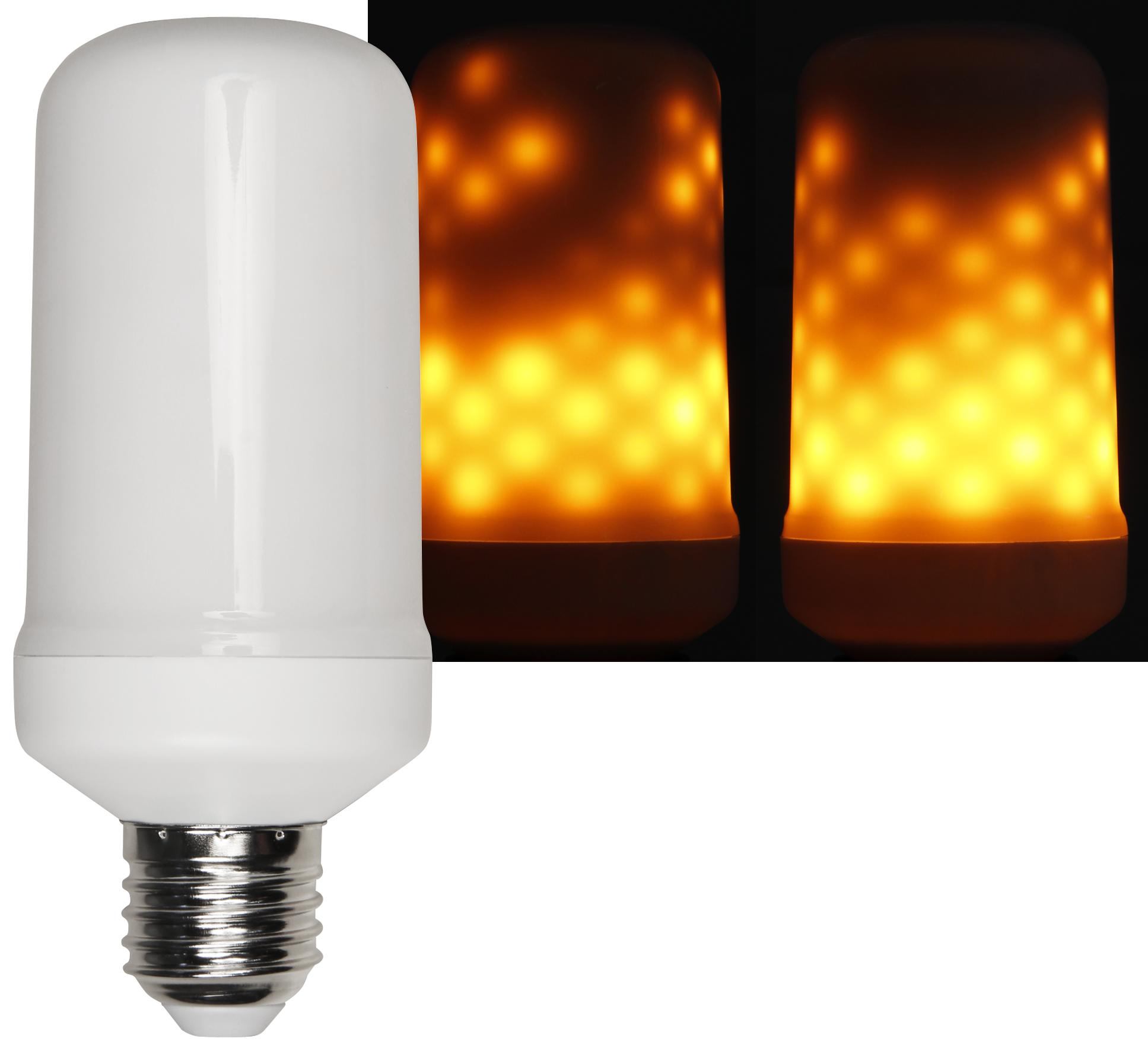 LED Flammen-Lampe McShine, Schwerkraft-Sensor, 3 Modi, 5W, 1300K