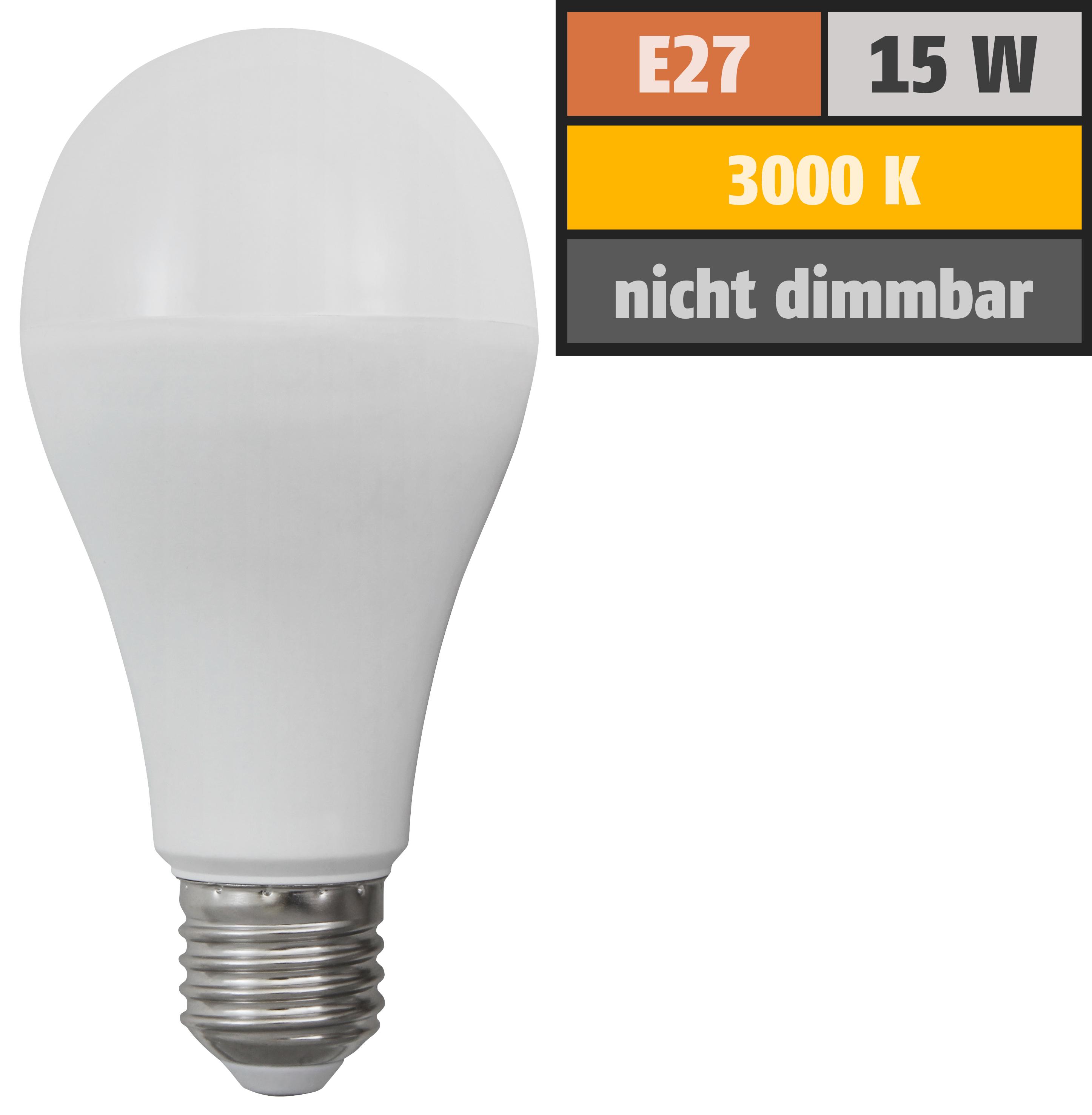 LED Glühlampe McShine ''SuperBright'' E27, 15W, 2500lm, 270°, 3000K, warmweiß