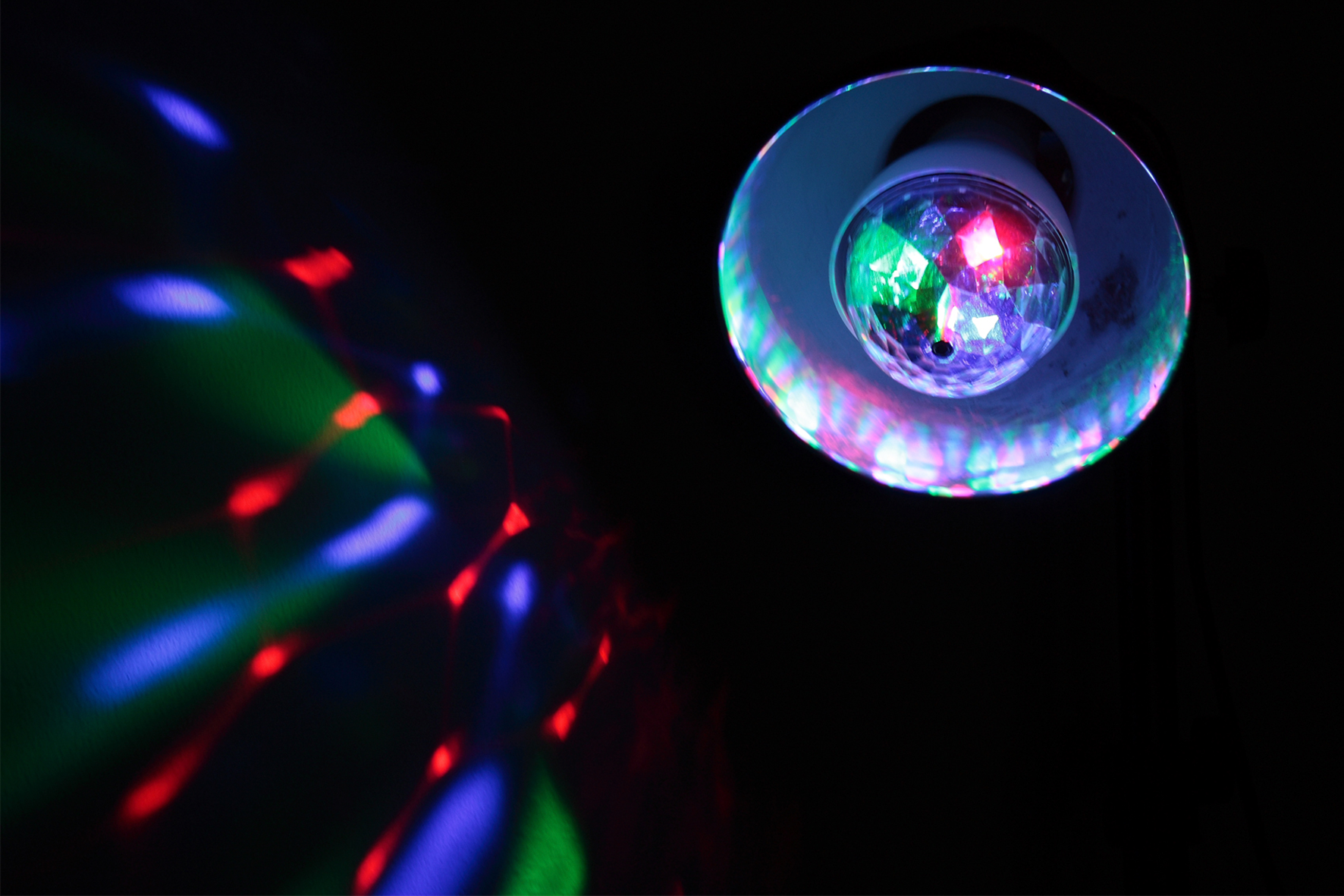 LED-Lichteffekt IBIZA ''ASTRO-MINI'' 4W, E27-Fassung