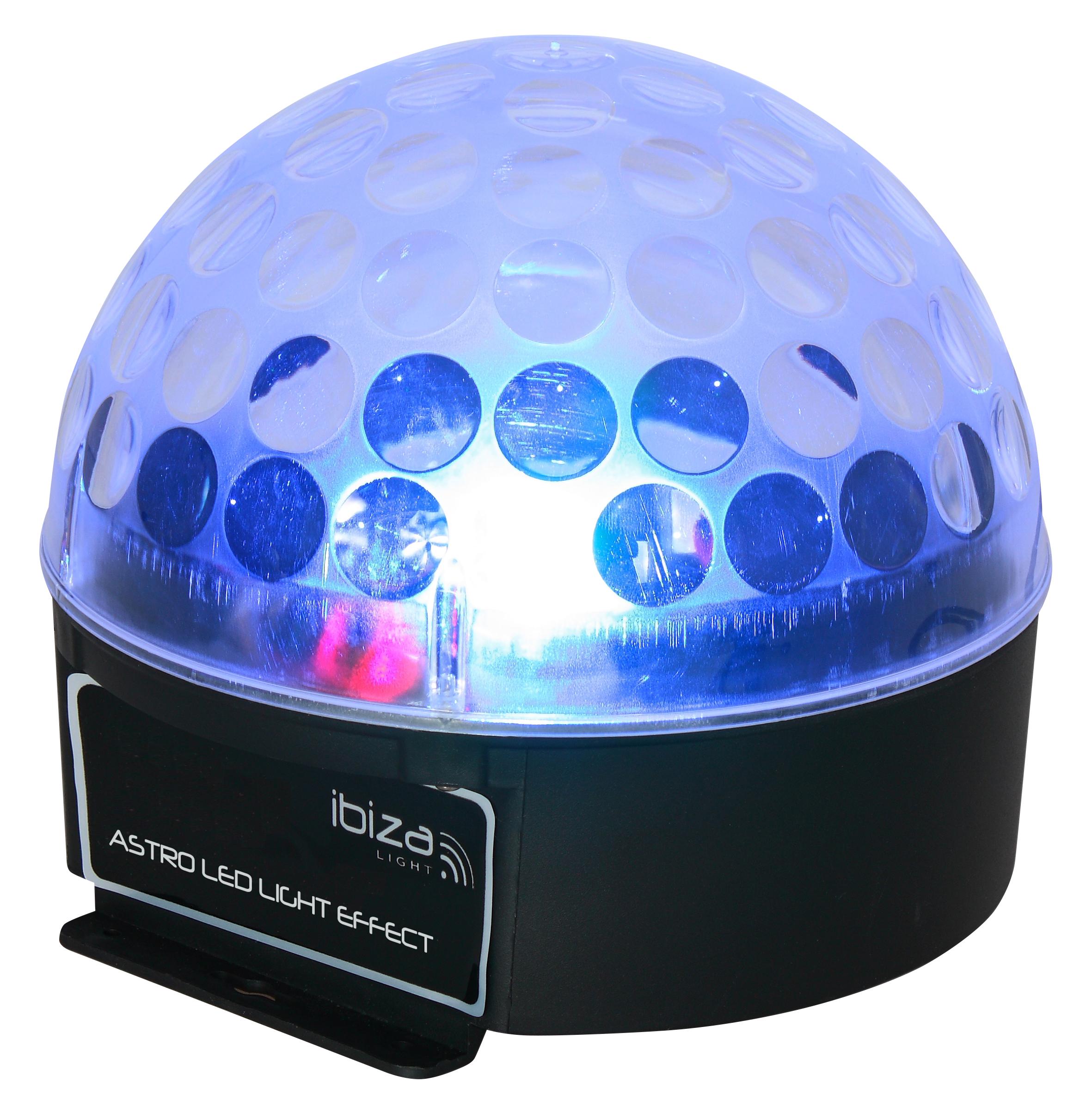 LED-Lichteffekt IBIZA ''ASTRO1'' 3x 3W RGB-LEDs, 81 Linsen