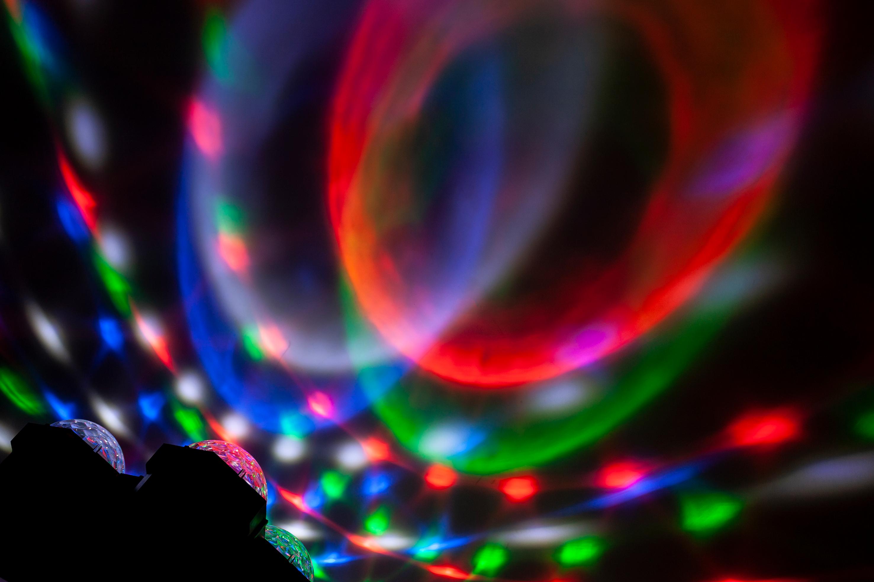 LED-Lichtorgel IBIZA ''JDL4-ASTRO'' 4 Astroeffekte, Musiksteuerung