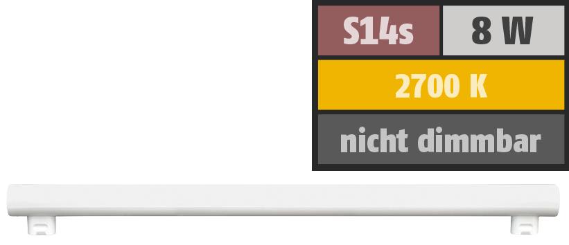 LED Linienlampe ''HD95'' S14s, 8W, 480lm, 2700K, warmweiß, Ra>95, 50cm