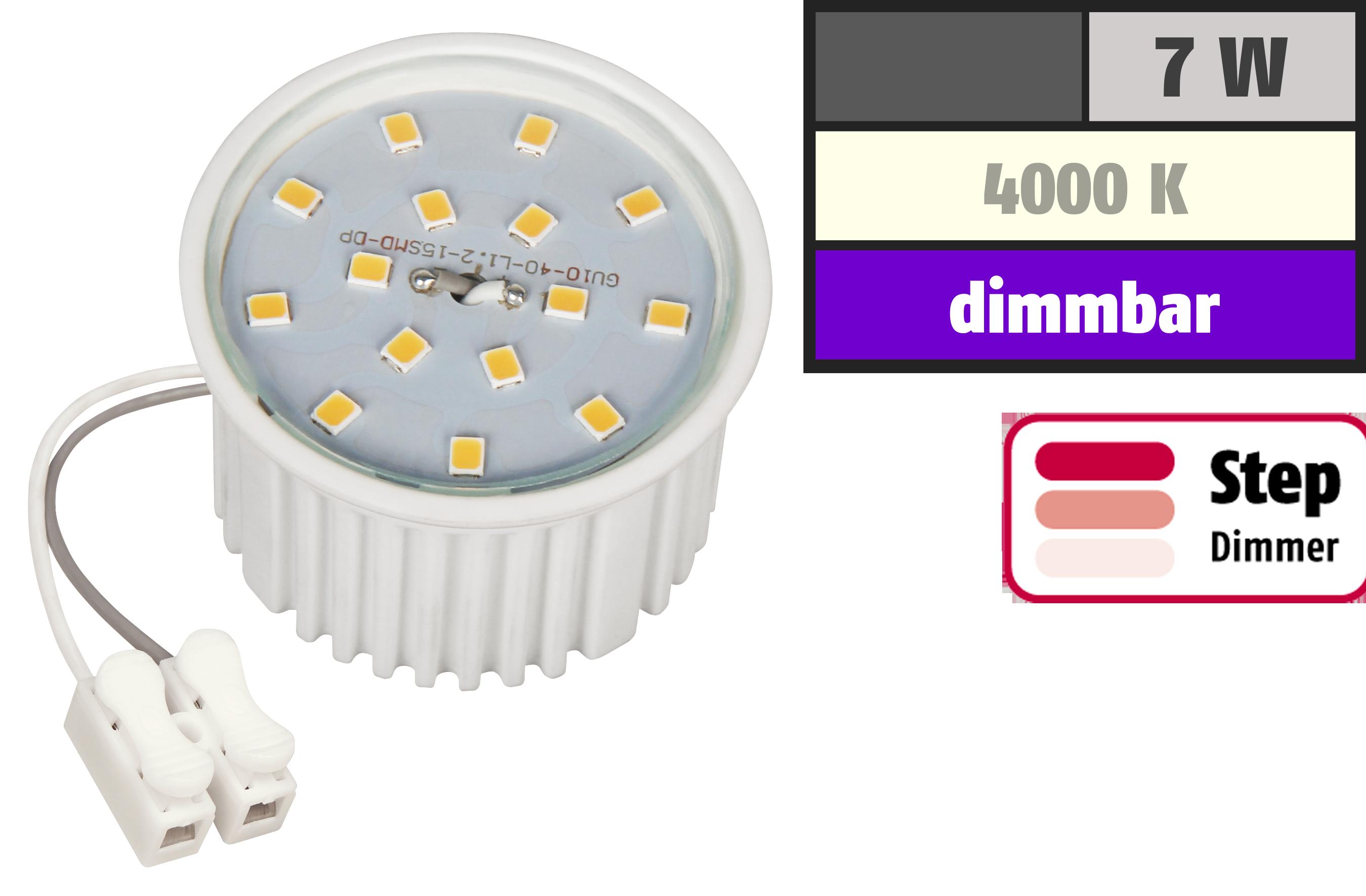 LED-Modul McShine, 7W, 510 Lumen, 230V, 50x33mm, neutralweiß, 4000K,step-dimmbar