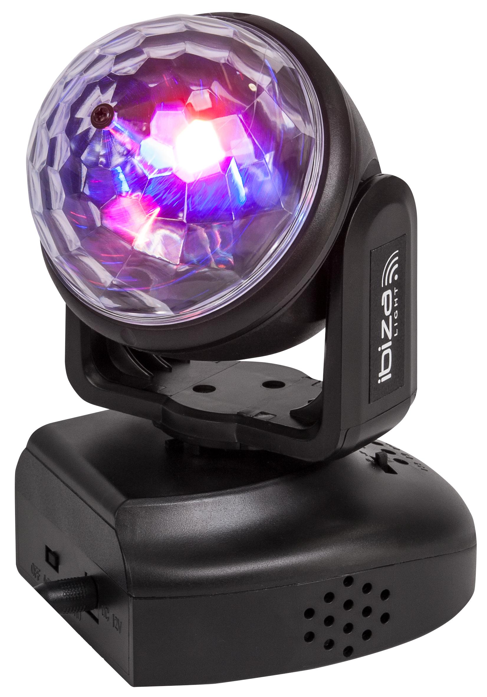 LED-Moving Head IBIZA ''LMH-ASTRO'' 6x RGB LEDs, 18W