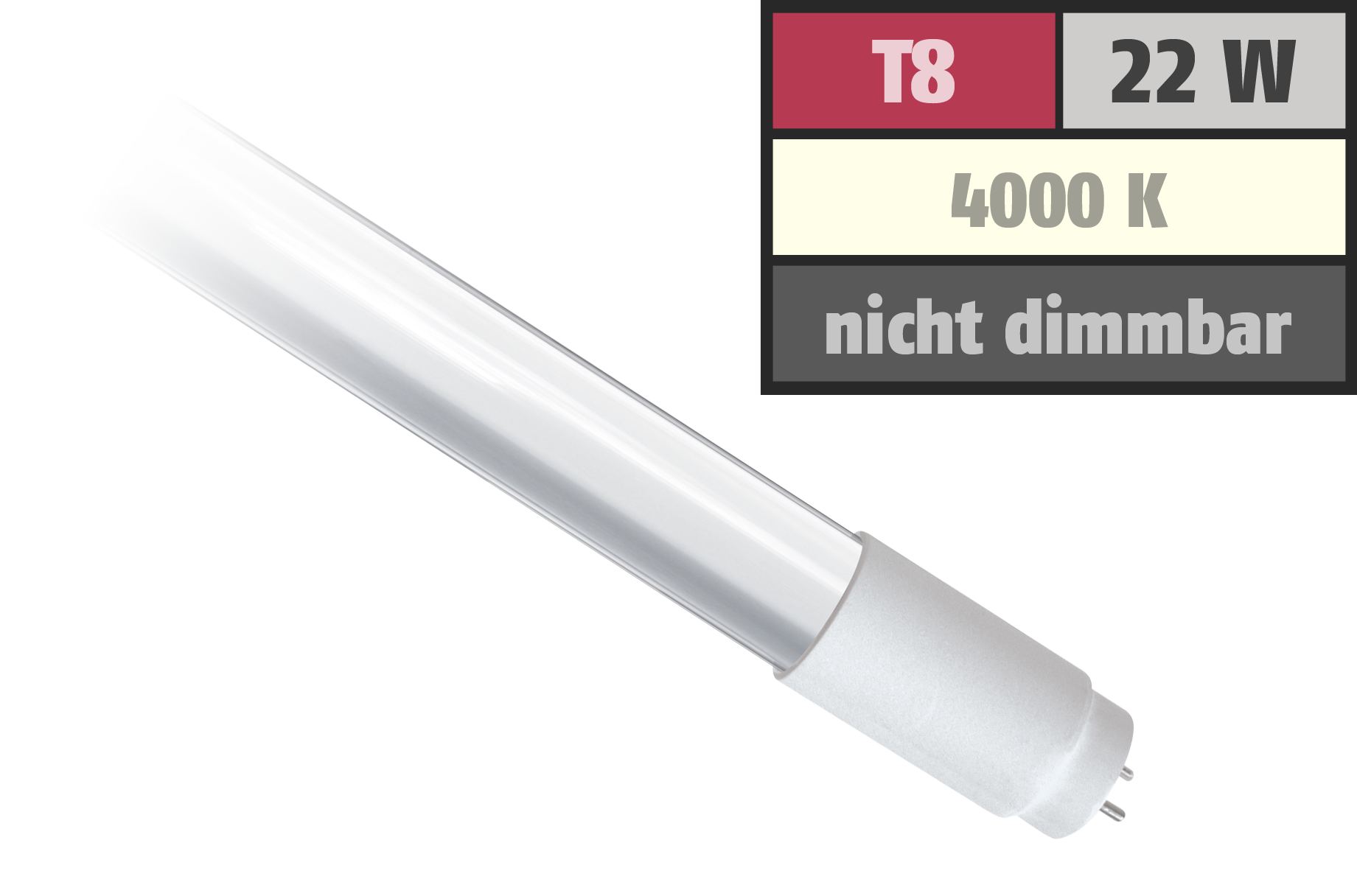 LED-Röhre, T8, 22W, 2.000 lm, 150°, 150cm, neutralweiß
