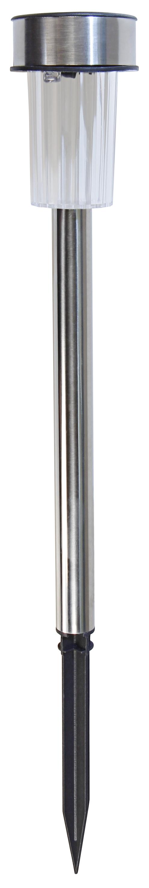 LED Solar-Gartenleuchte, Edelstahl, ØxL 4,7x36,5cm