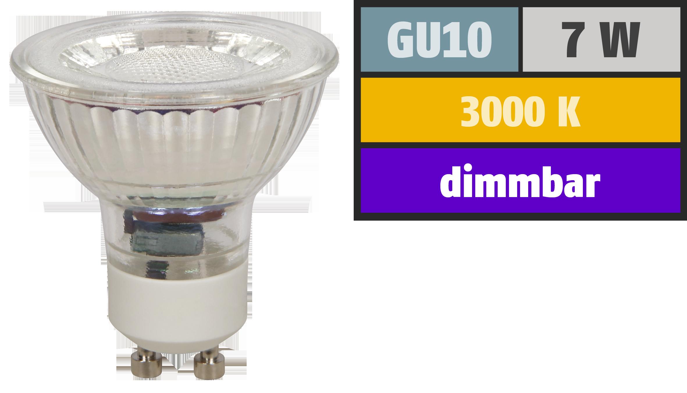 LED-Strahler McShine ''MCOB'' GU10, 7W, 450 lm, warmweiß, dimmbar