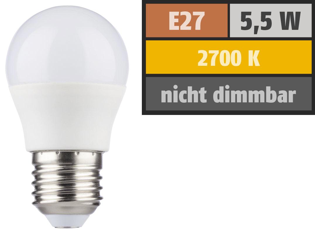 LED Tropfenlampe ''HD95'' E27, 5,5W, 420lm, 2700K, warmweiß, Ra>95