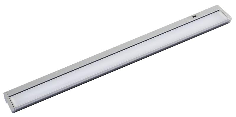 LED Unterbauleuchte, 10W, 580lm, 56cm, warmweiß, Bewegungsmelder, titan