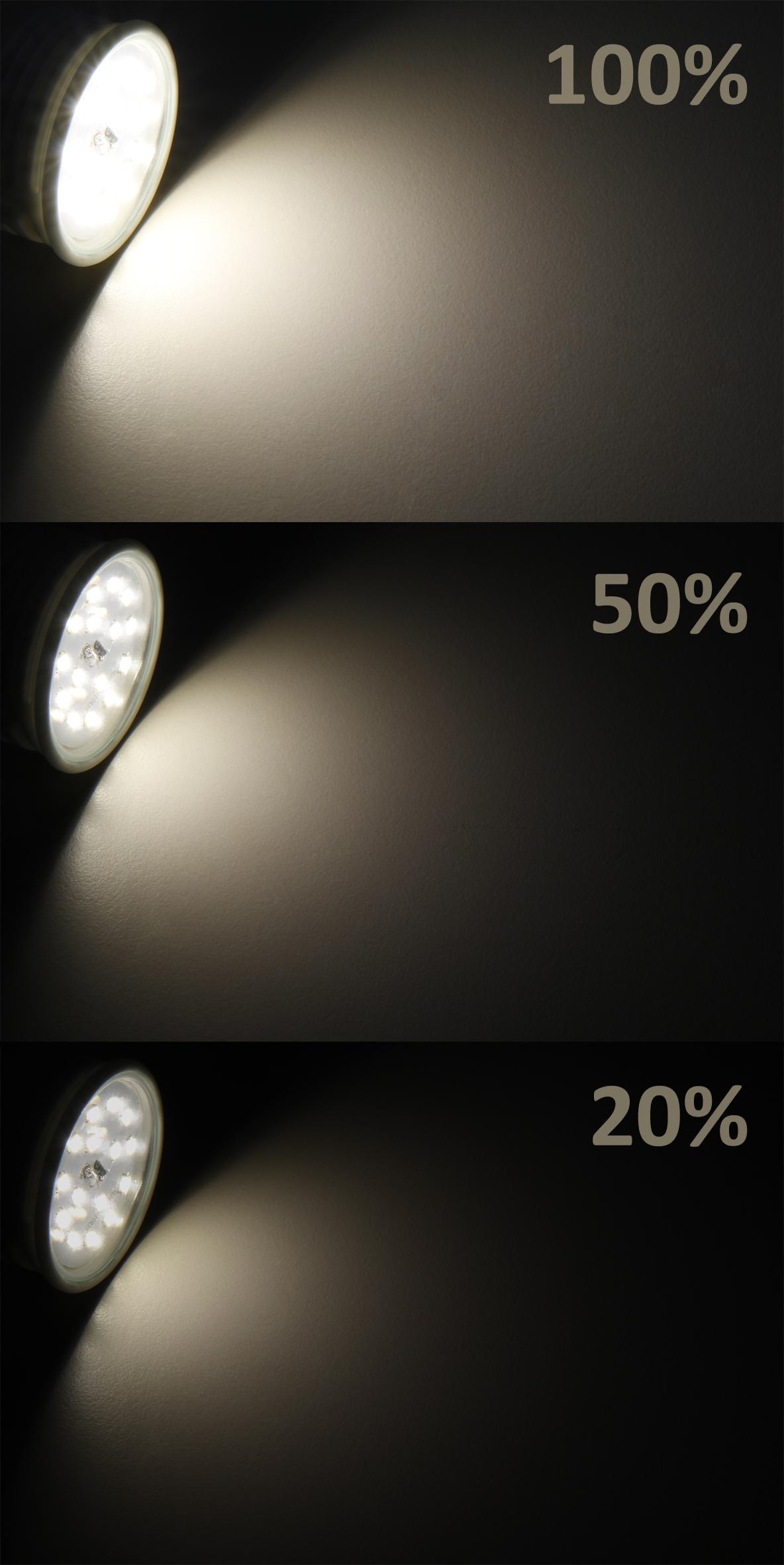 LED-Modul McShine, 5W, 400 Lumen, 230V, 50x23mm, warmweiß, 3000K, step-dimmbar
