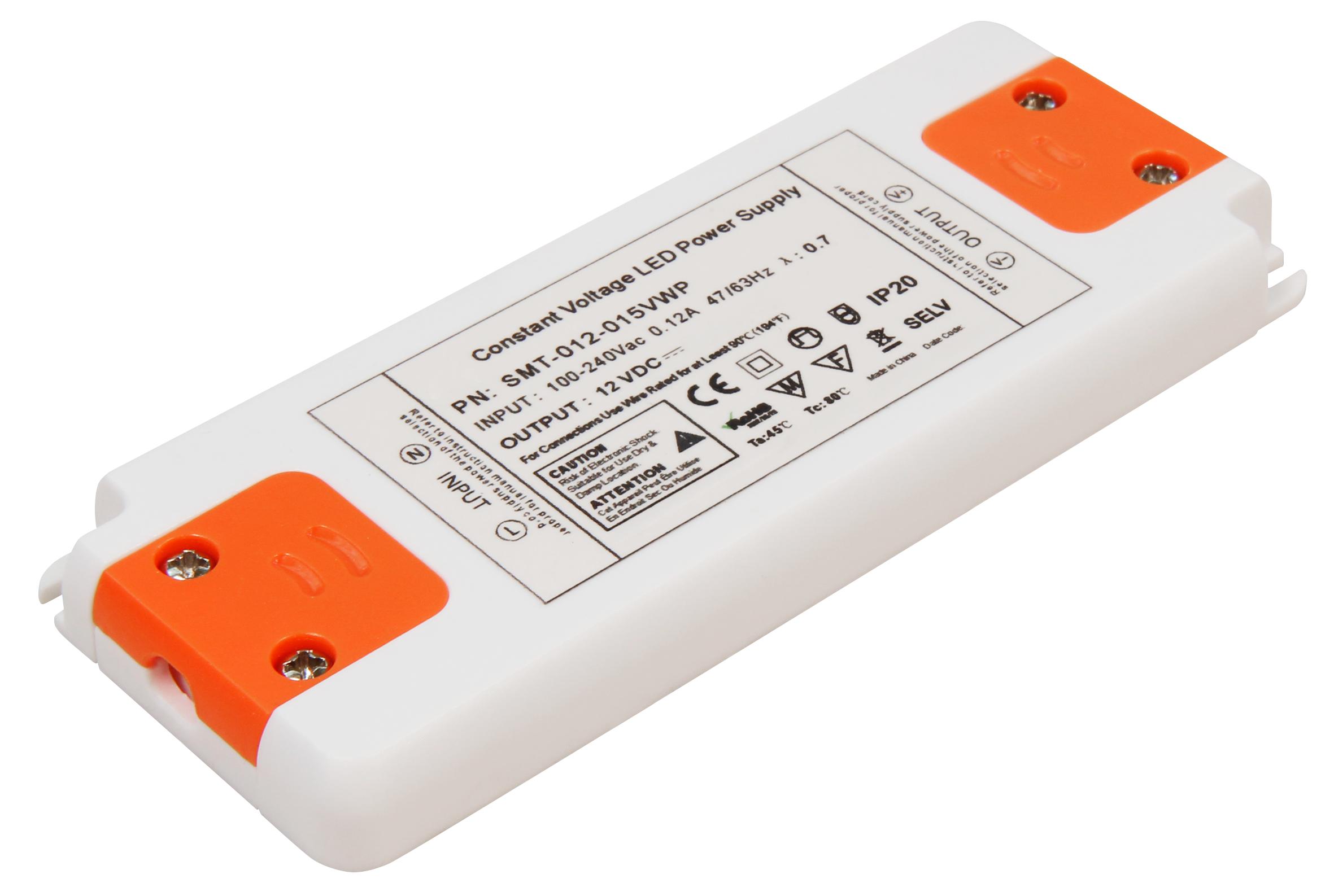 LED-Trafo McShine ''Slim'' elektronisch, 1-15W, 230V auf 12V, 128x50x12mm