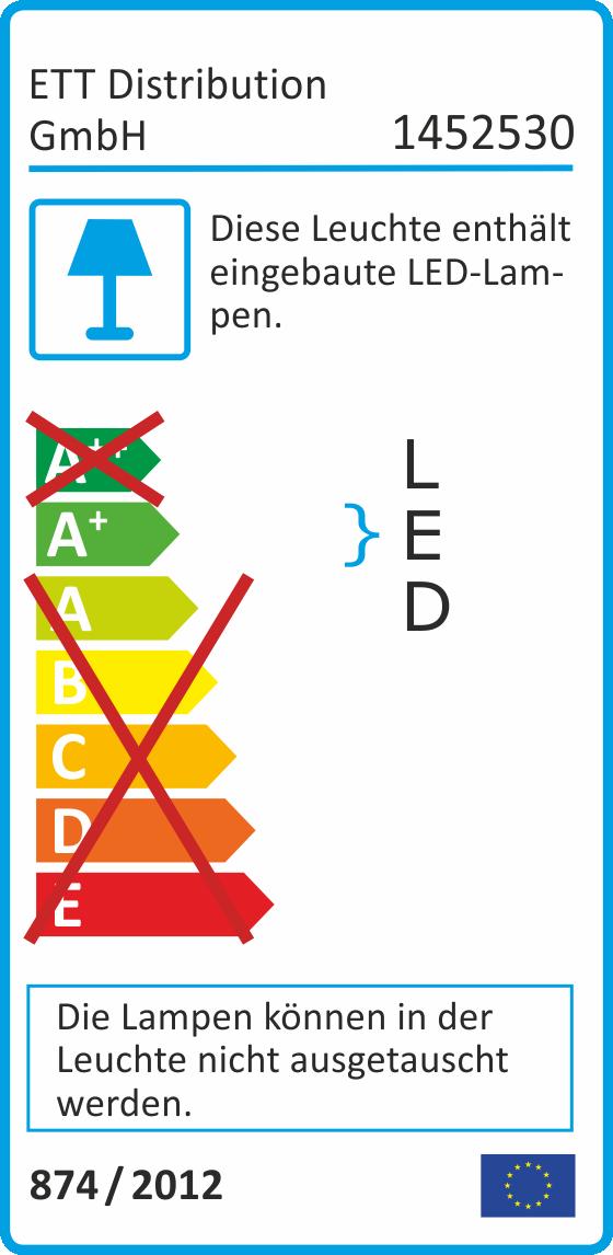 LED-Wand-Einbauleuchte McShine ''LWE-86W'' 2W, 100lm, warmweiß, weißer Rahmen