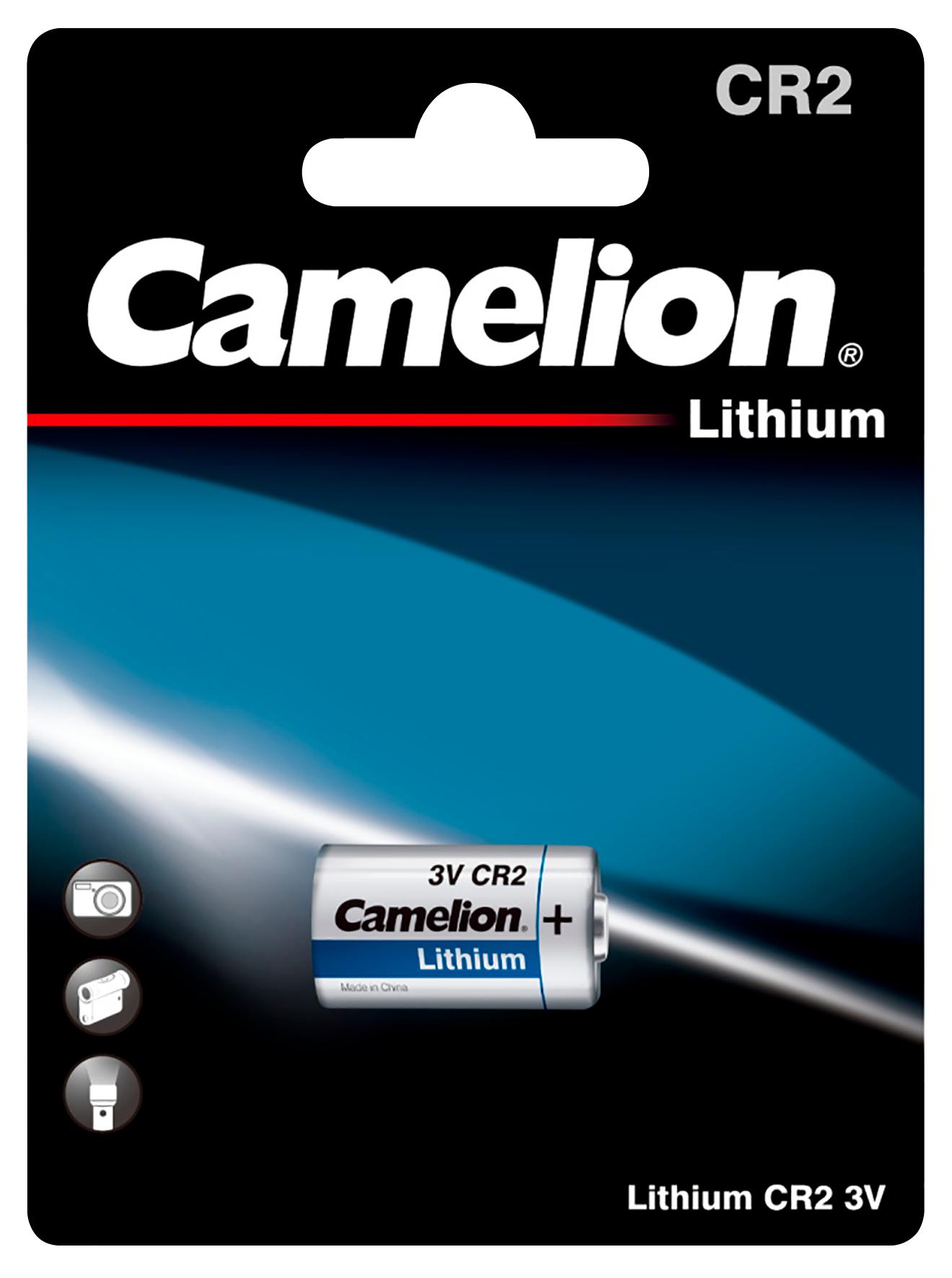 Lithium-Photobatterie CAMELION, CR2, 3 V, 1er-Blister