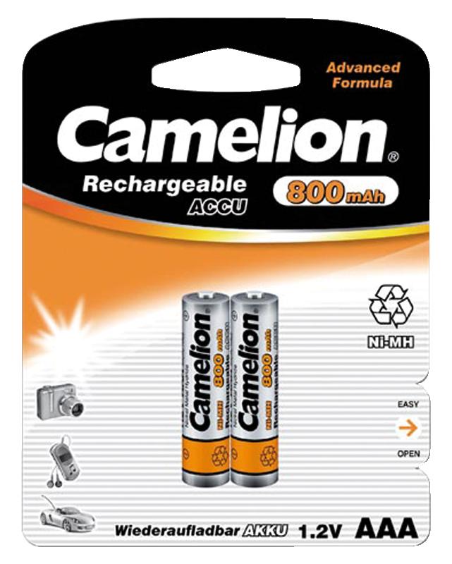 Micro-Akku CAMELION 1,2V, 800 mAh, Typ AAA, NiMH, 2er-Blister