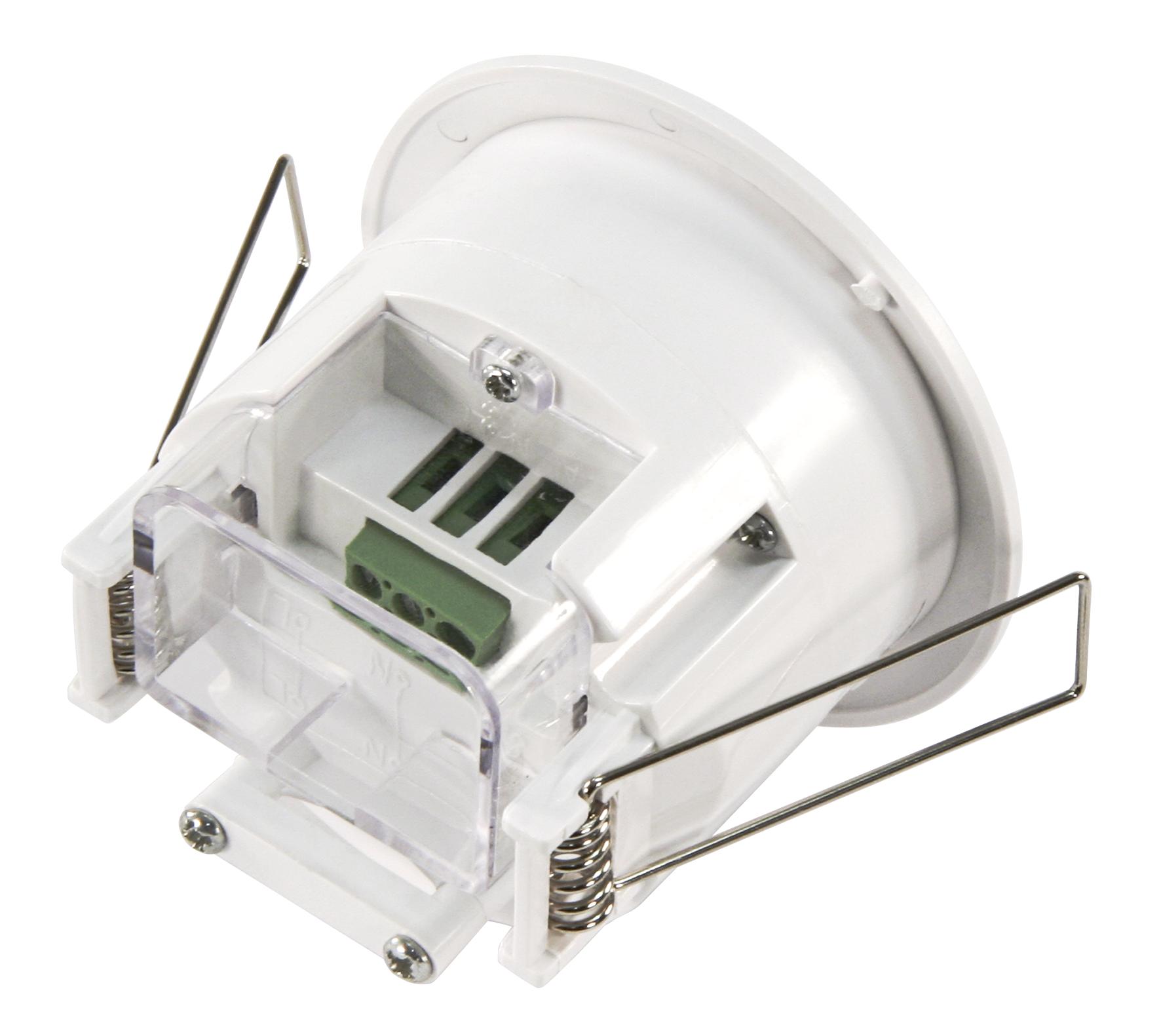 HF / Mikrowellen-Bewegungsmelder McShine ''LX-753'', 360°, 230V / 1.200W, weiß, Unterputz, LED geeigne