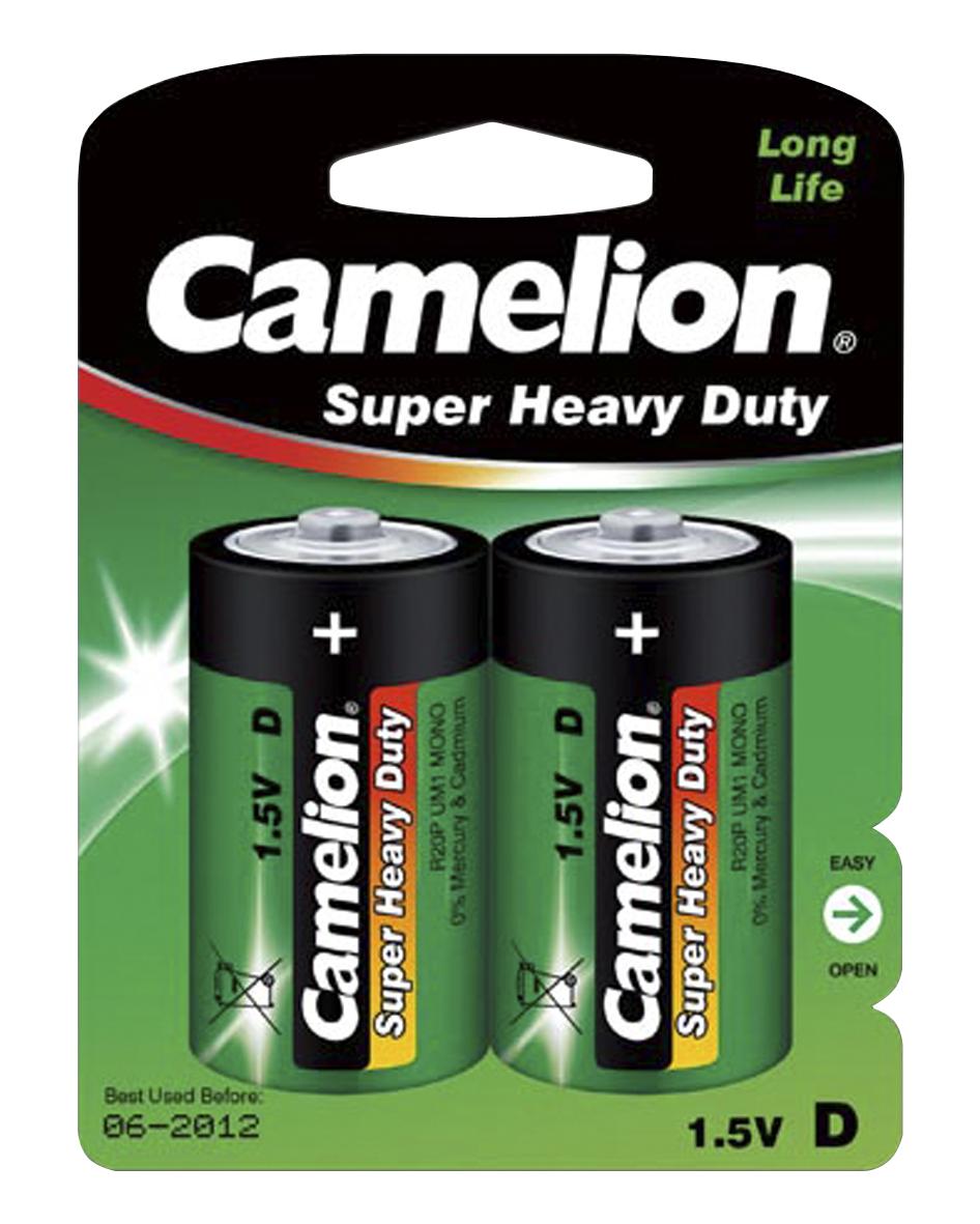 Mono-Batterie CAMELION Super Heavy Duty 1,5 V, Typ D, 2er-Blister