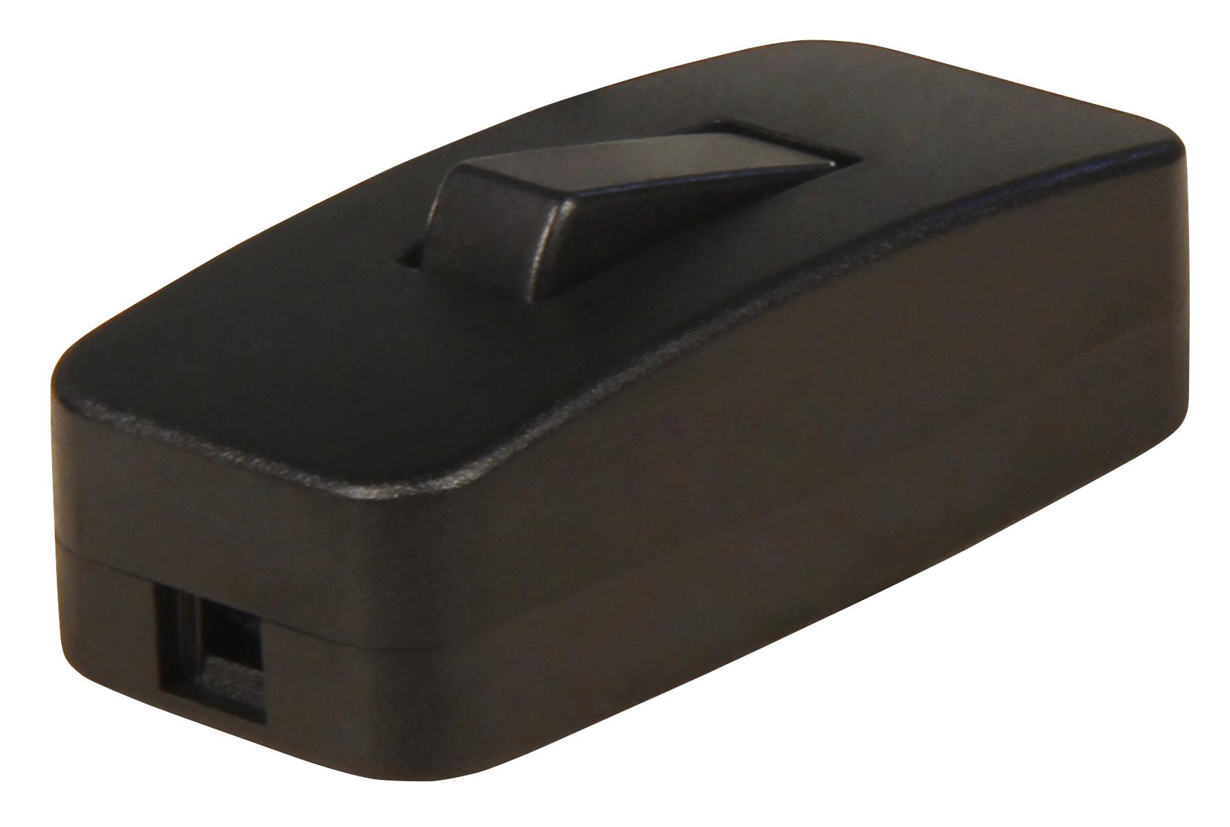 Schnurschalter McPower, schwarz, 250V / 2 A