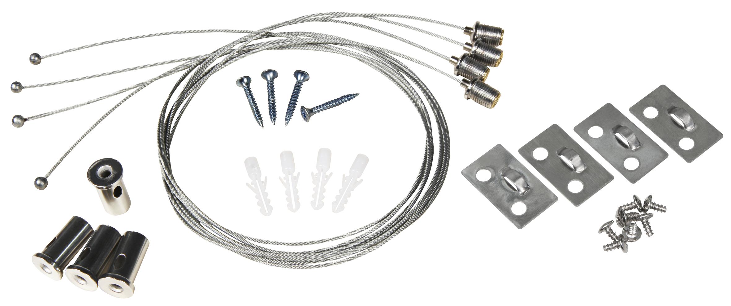 Seilsystem für LED-Panels McShine, Deckenbefestigung