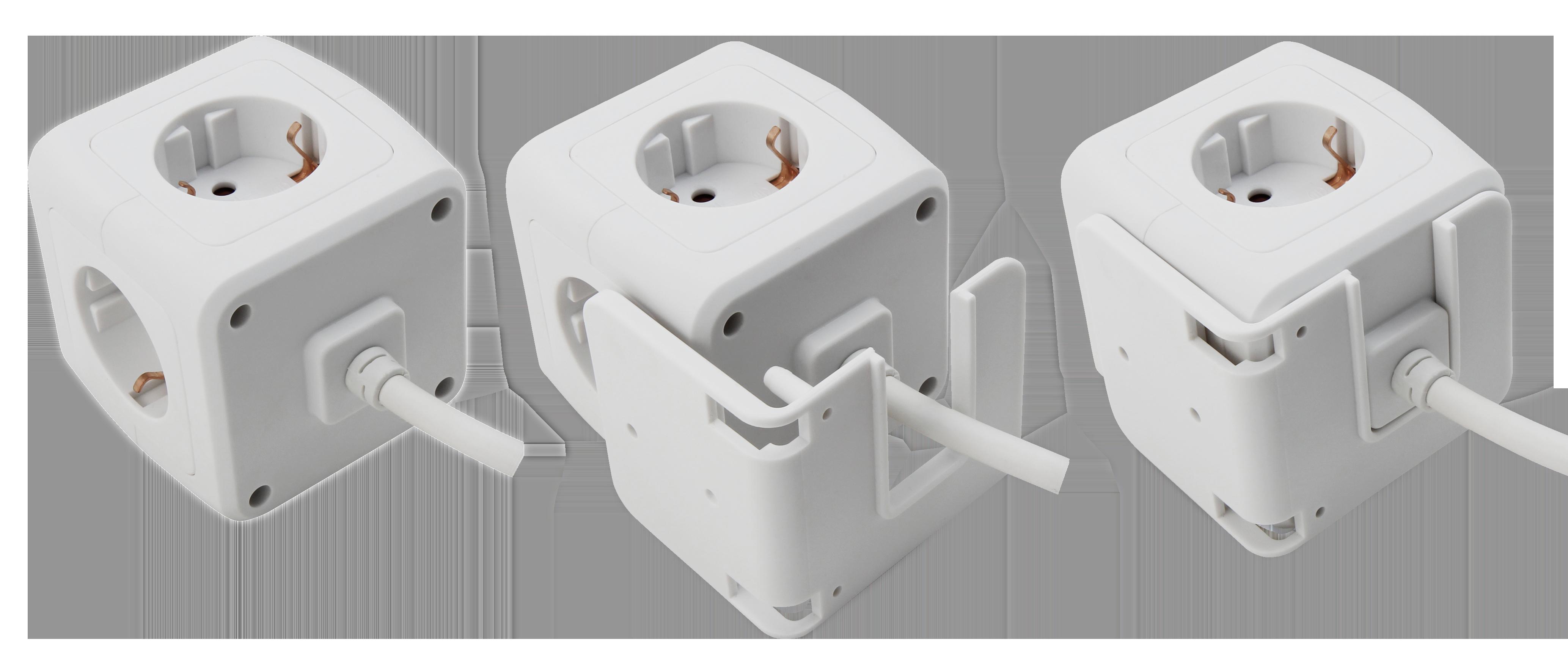 Steckdosen-Würfel McPower mit 4x Schutzkontakt Steckdose + 2xUSB, 1,5m Zuleitung