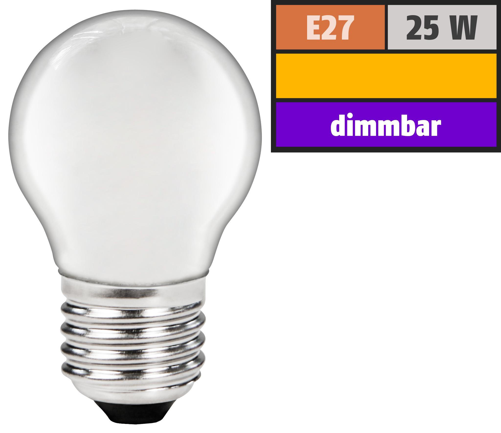 Tropfenlampe Philips, E27, 230V, 25W, matt