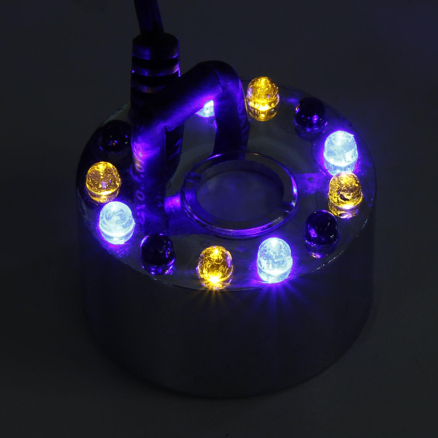 Ultraschall-Nebler / Zerstäuber McShine ''LED-12'' mit 12 LEDs, Farbwechsler