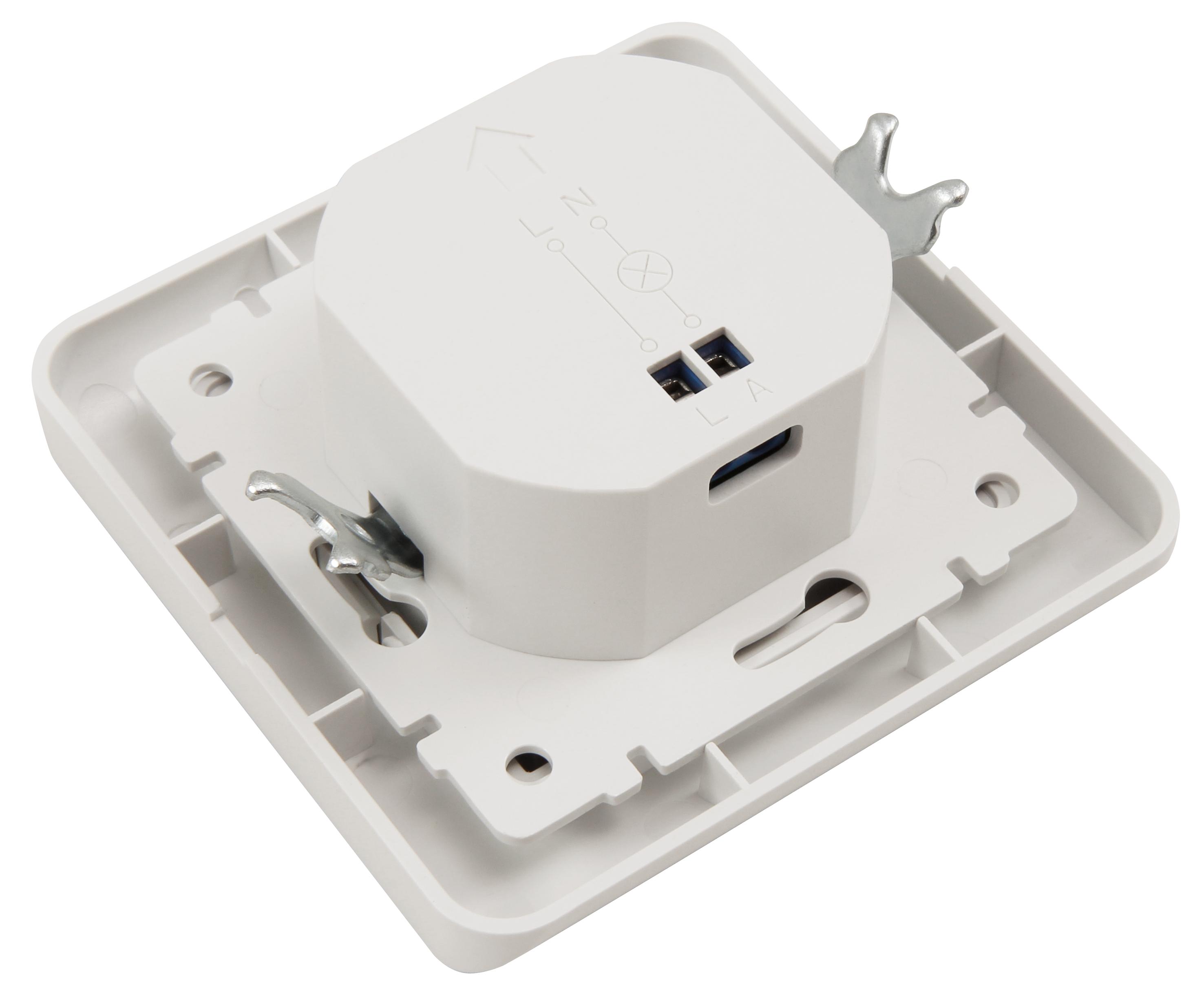 Unterputz IR Bewegungsmelder McShine ''LX-20'' 160°, 300W, LED geeignet, weiß