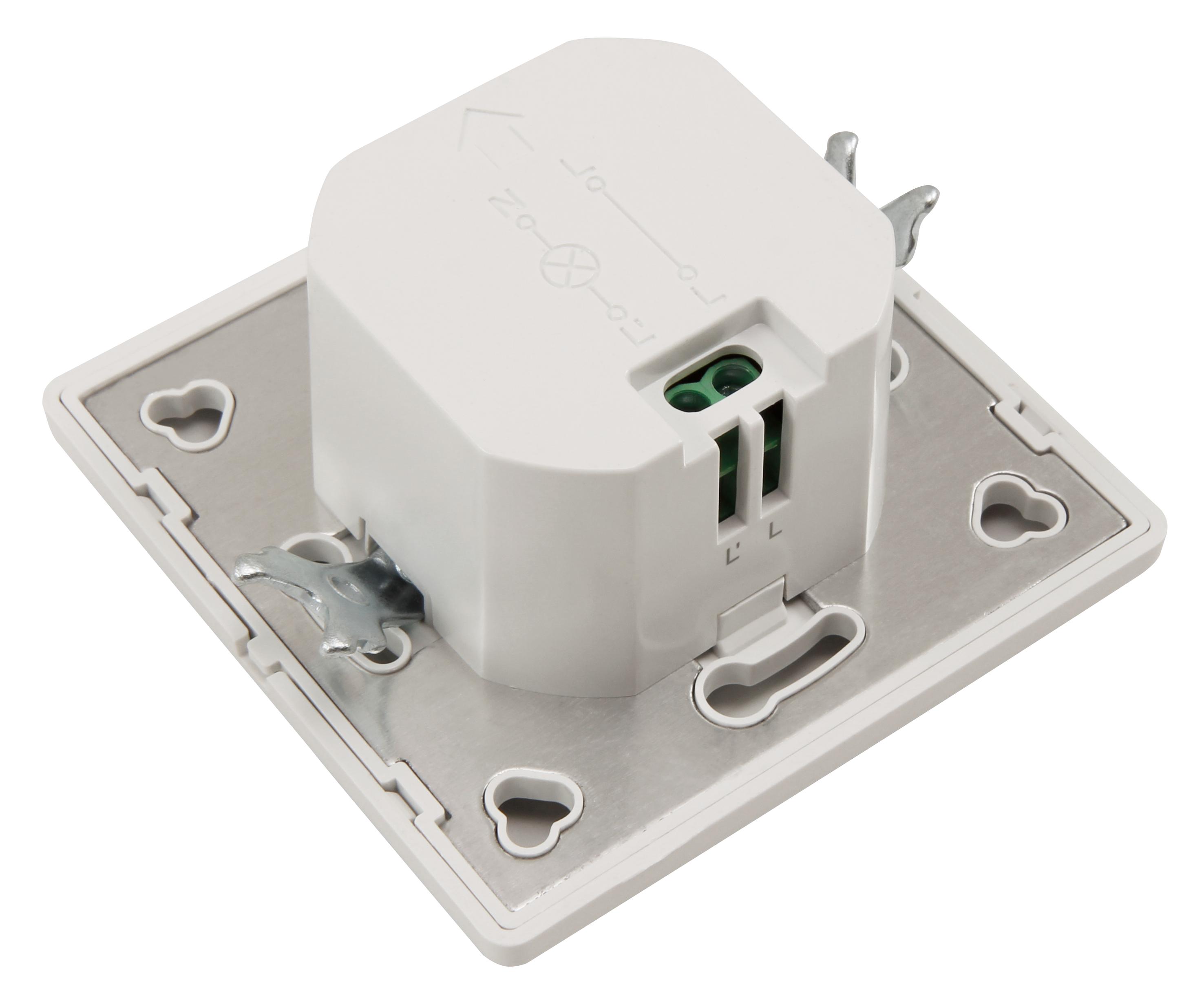 Unterputz IR Bewegungsmelder McShine ''LX-31'' 190°, 500W, LED geeignet, weiß