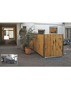 "Eckpfosten mit Ankerplatte ""Bamboona"" Edelstahl"