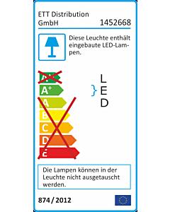 LED-Deckenleuchte McShine ''LEIR-21'' Ø21cm, 10W, 800lm, 3000K, Bewegungsmelder