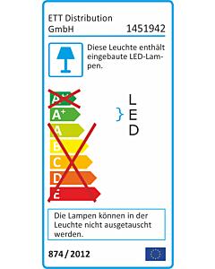 LED-Panel McShine ''LP-150IP'' 10W, 150mm-Ø, 800lm, IP54, 3000K, warmweiß
