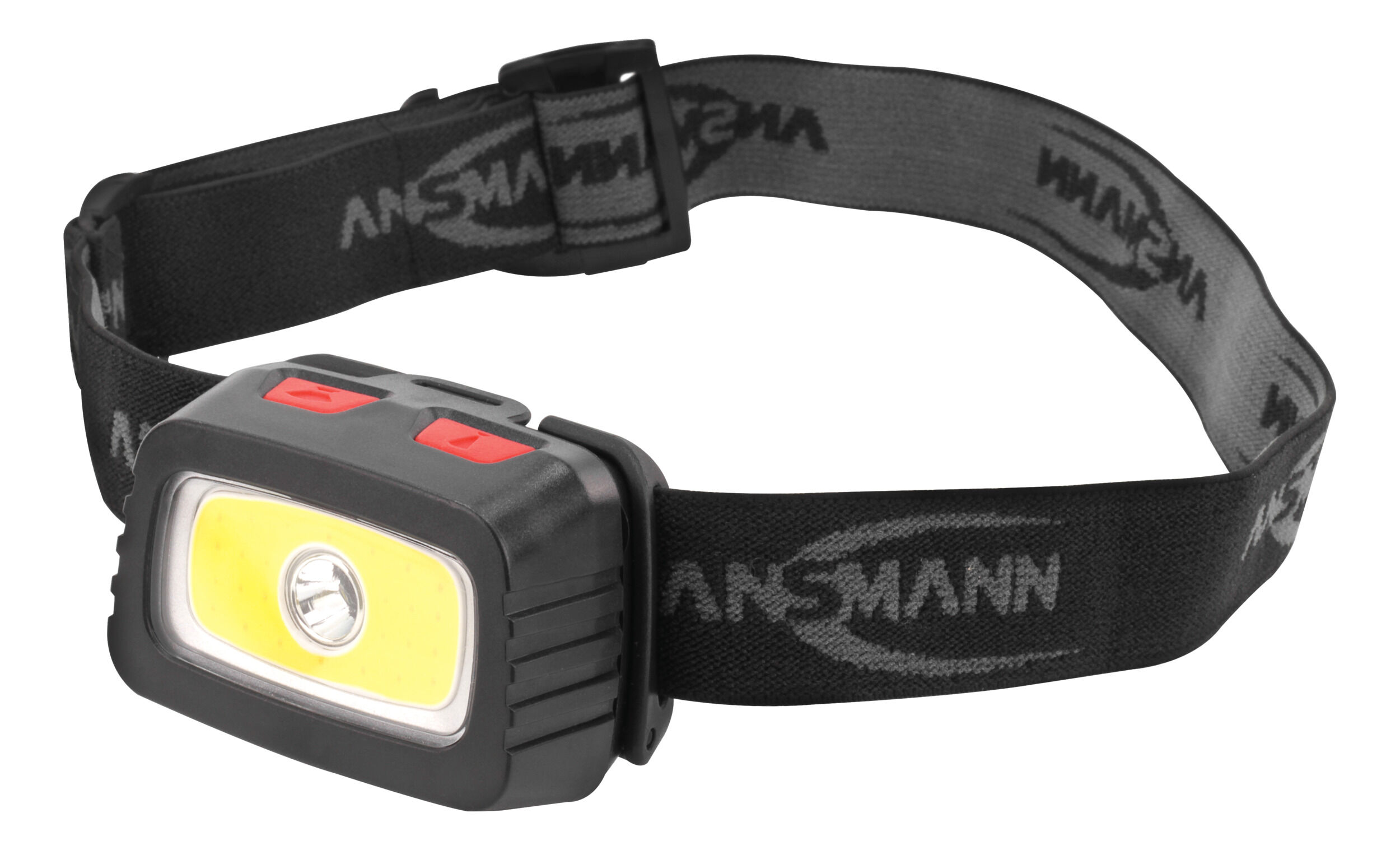 ANSMANN LED Stirnlampe – breite Ausleuchtung dank 3W COB LED Technik,