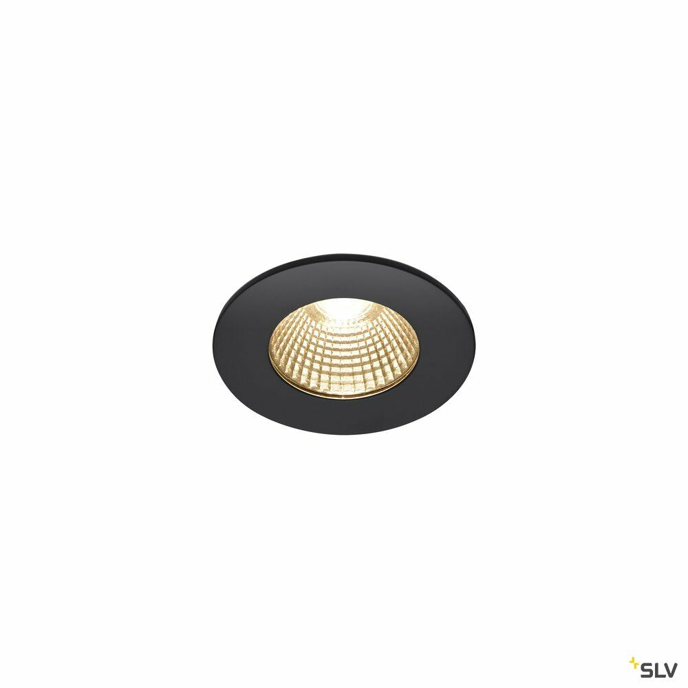 PATTA-I, LED Outdoor Deckeneinbauleuchte, rund DL IP65 schwarz 1800-3000K
