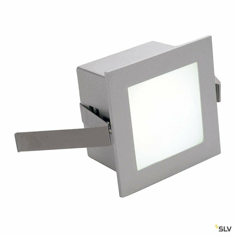 FRAME BASIC, Einbauleuchte, LED, 4000K, eckig, silbergrau, inkl. Blattfedern